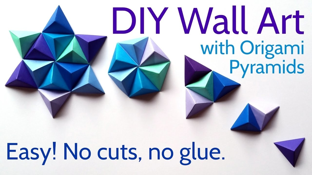Diy Paper Wall Art With Origami Pyramid Pixels – Easy Tutorial And Pertaining To Current Paper Wall Art (View 13 of 20)