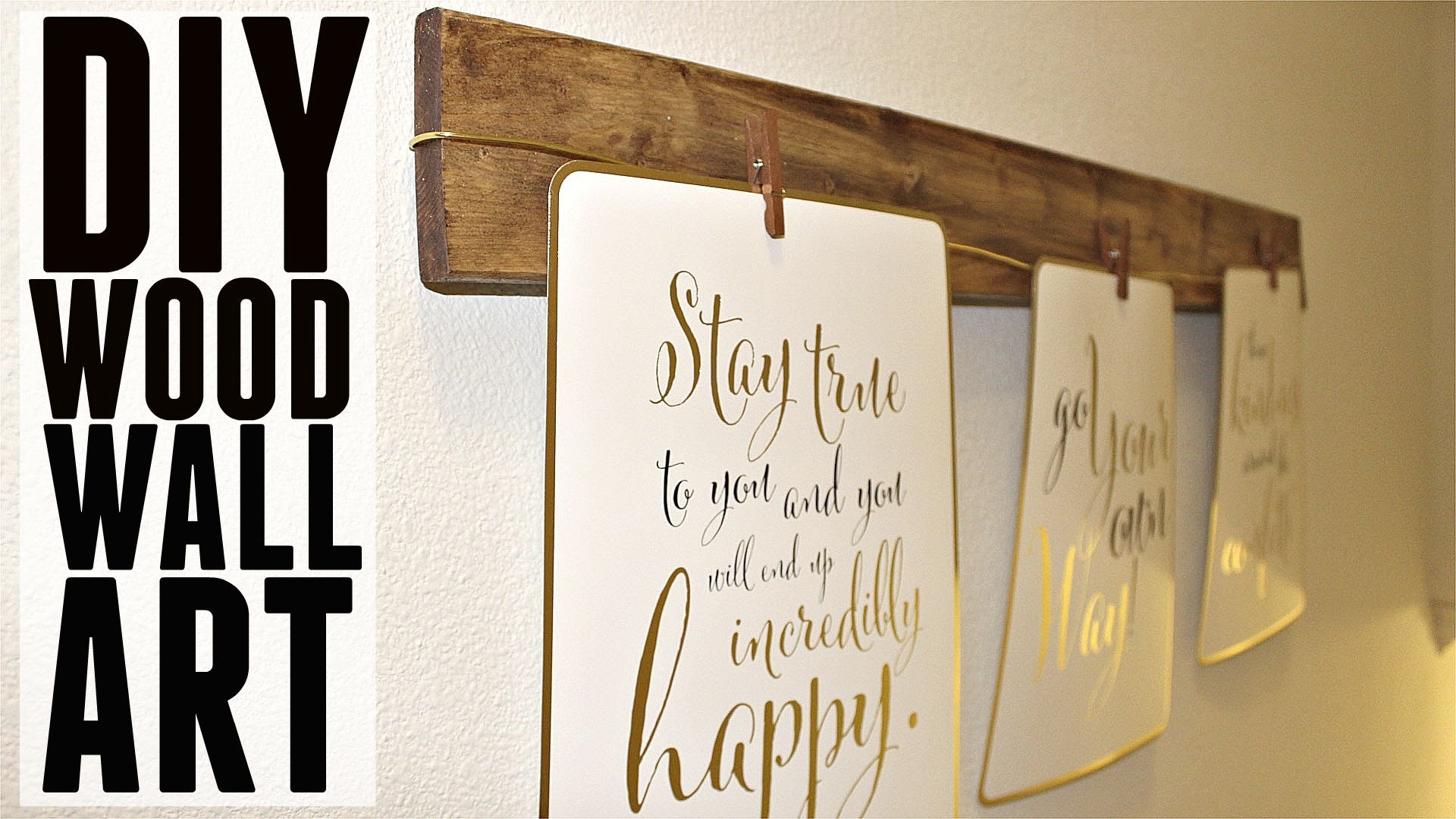 Diy | Quick + Easy Wood Wall Art – Youtube Throughout Most Popular Wood Wall Art Diy (Gallery 1 of 15)