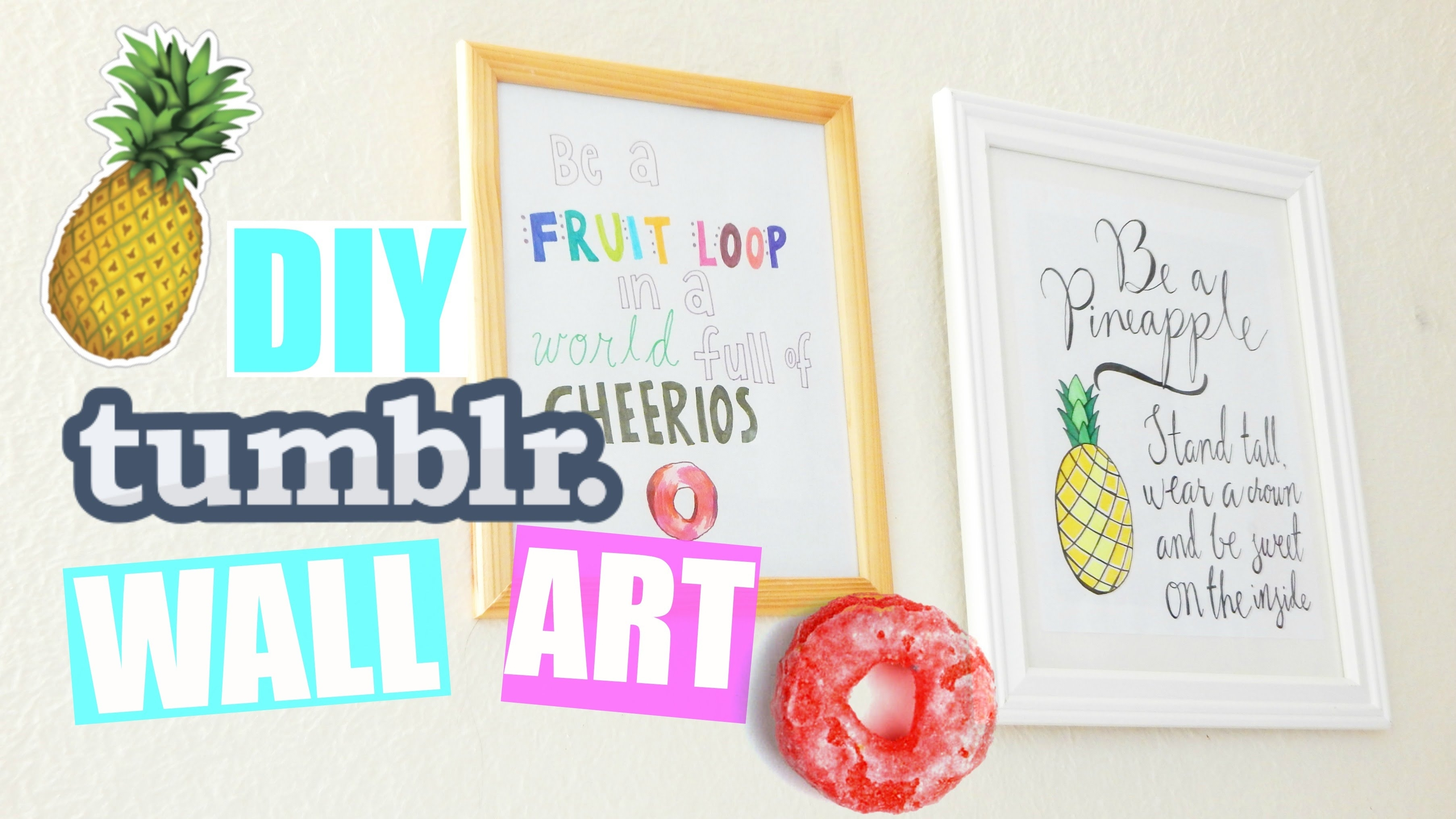 Diy Quote Wall Art Room Decor! |pastelpandaz – Youtube Pertaining To Most Current Wall Art Quotes (Gallery 16 of 20)