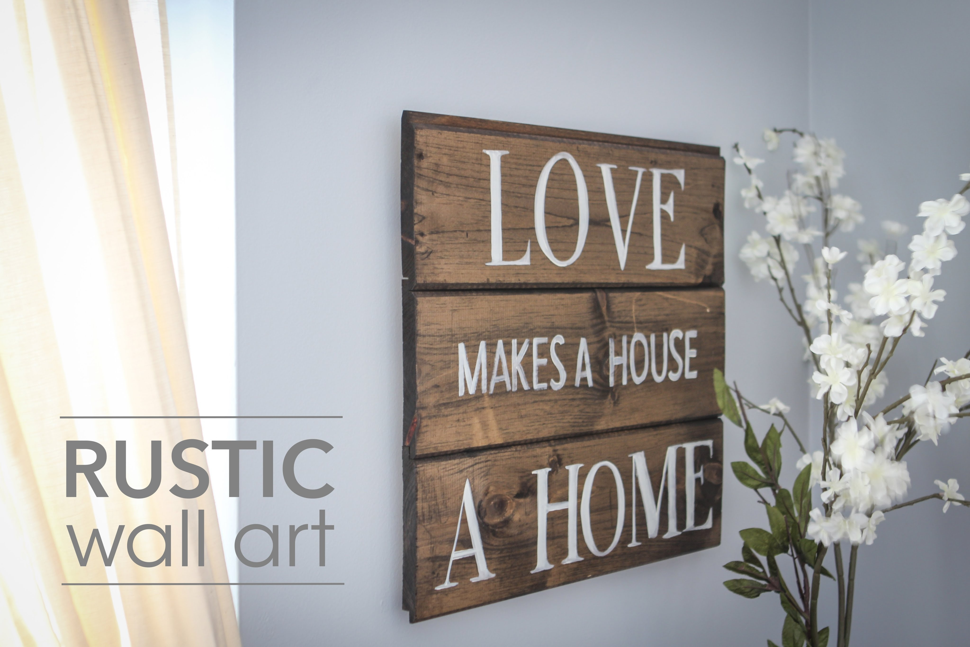 Diy Rustic Wall Art - Youtube in Current Large Rustic Wall Art