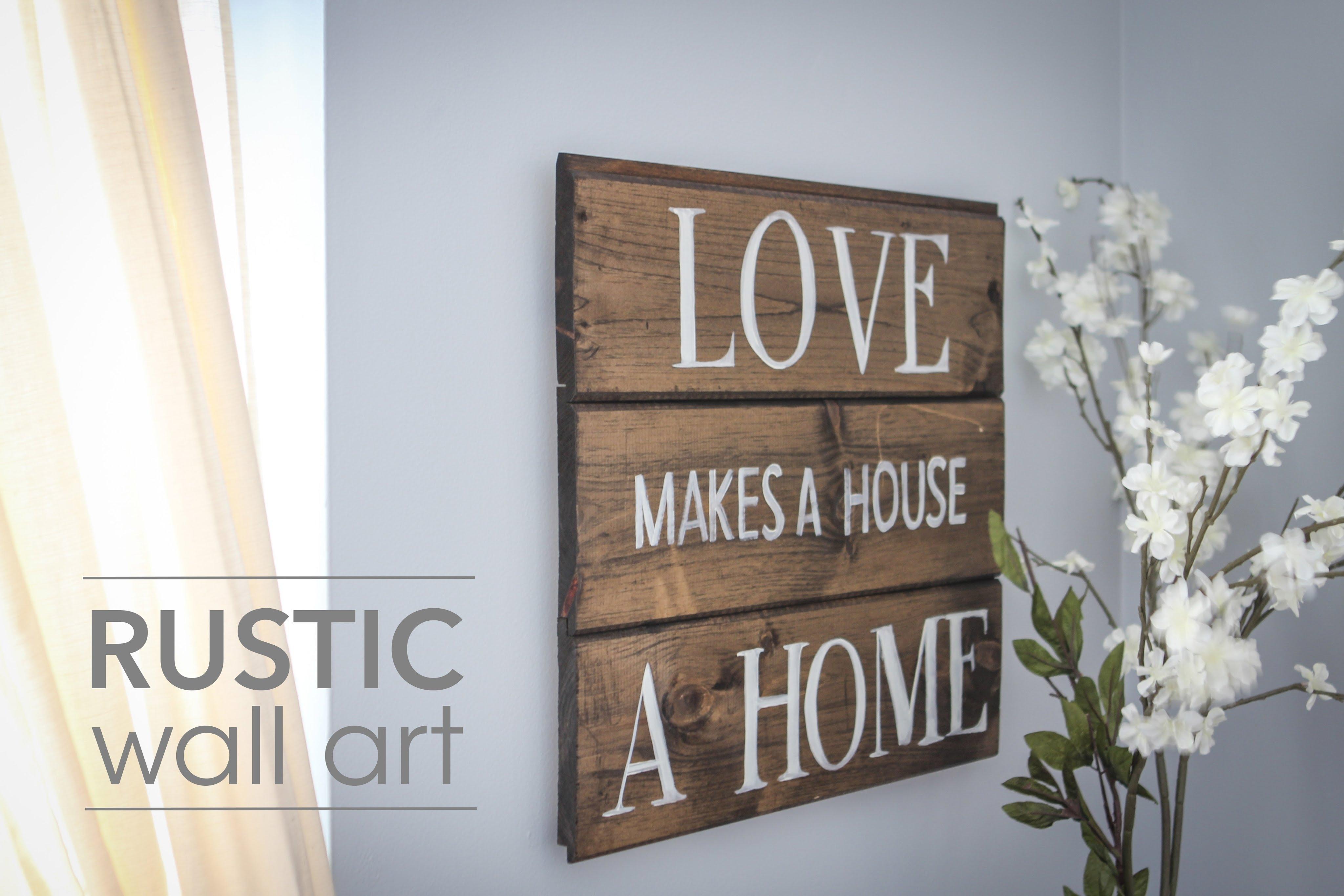 Diy Rustic Wall Art – Youtube Regarding Latest Wood Wall Art Diy (View 4 of 15)