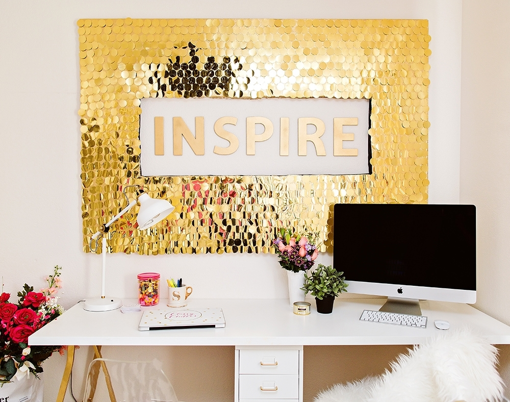 Diy Sequins Wall Art Pertaining To Most Up To Date Diy Wall Art (View 4 of 15)