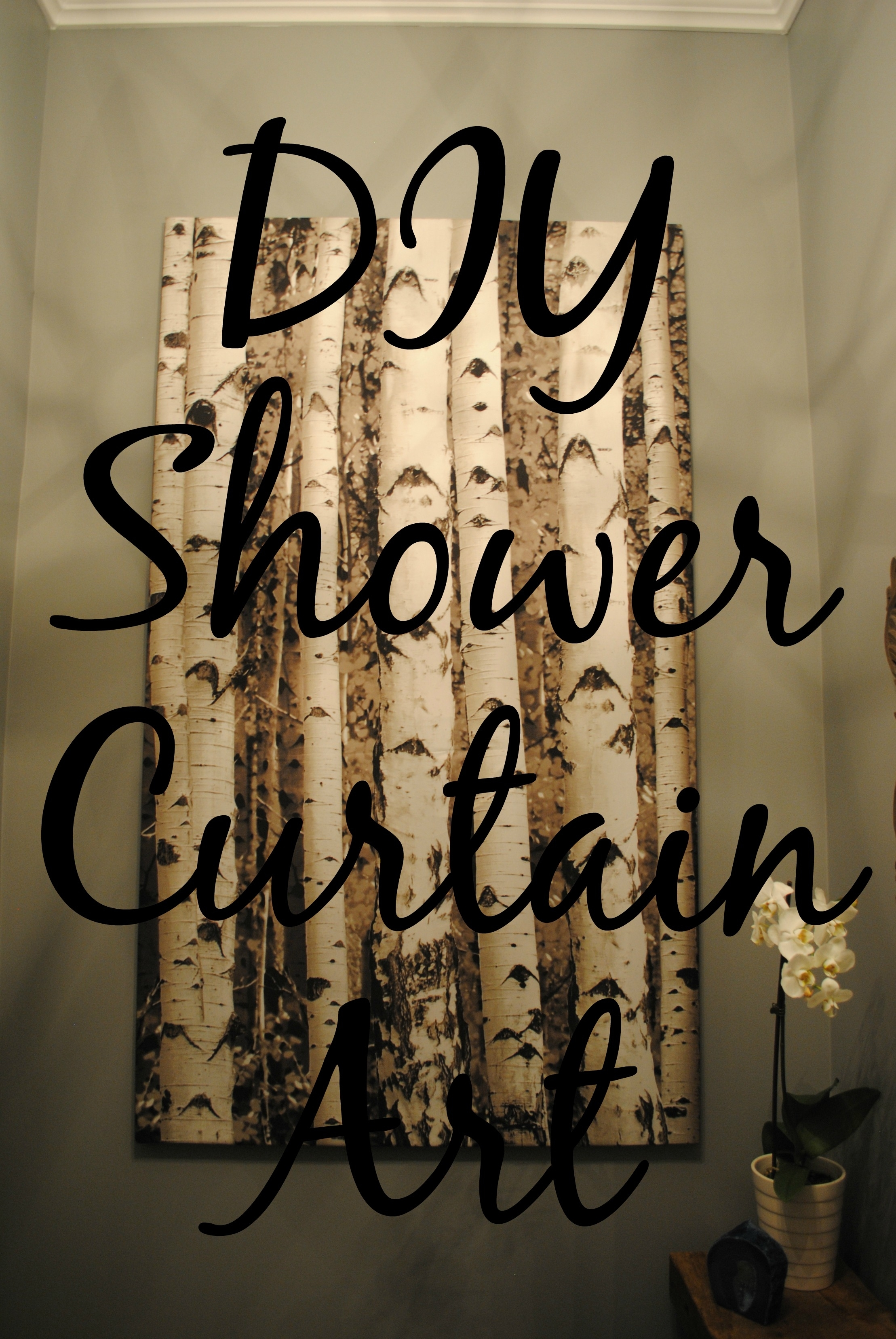 Diy Shower Curtain Art | Tixeretne With Most Recently Released Shower Curtain Wall Art (View 6 of 20)