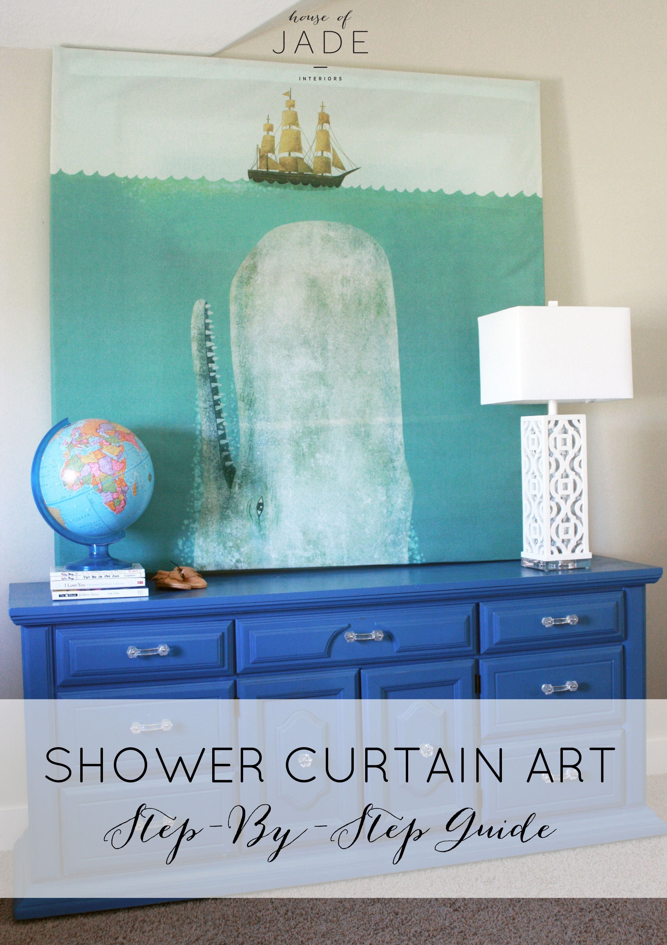 Diy Shower Curtain Art3 | Make It At Home | Pinterest | Diy Shower With Latest Shower Curtain Wall Art (View 6 of 20)