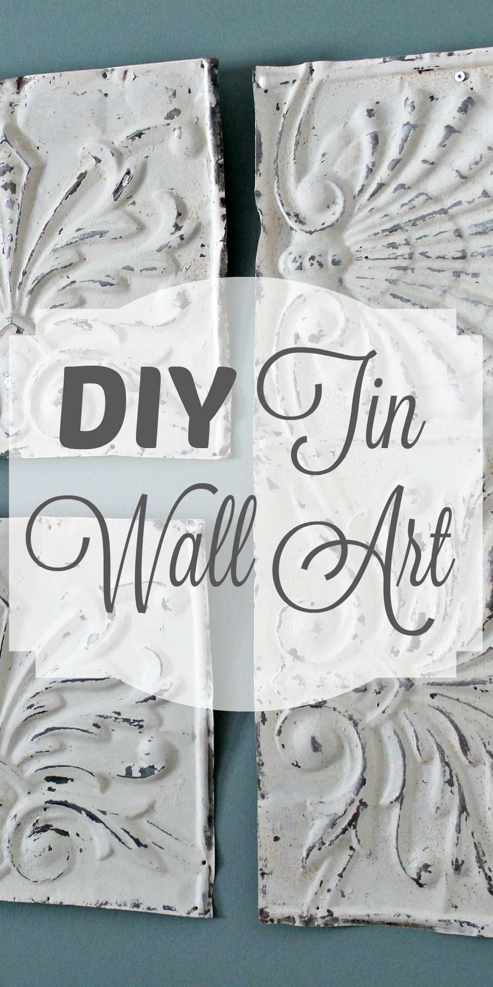 Diy Tin Wall Art! – Theprojectpiletheprojectpile With Regard To Newest Tin Wall Art (Gallery 1 of 20)
