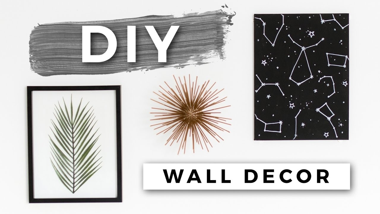 Diy Tumblr Room Decor! Minimal Wall Art! (dollar Store Diys) – Youtube For Current Tumblr Wall Art (View 2 of 20)