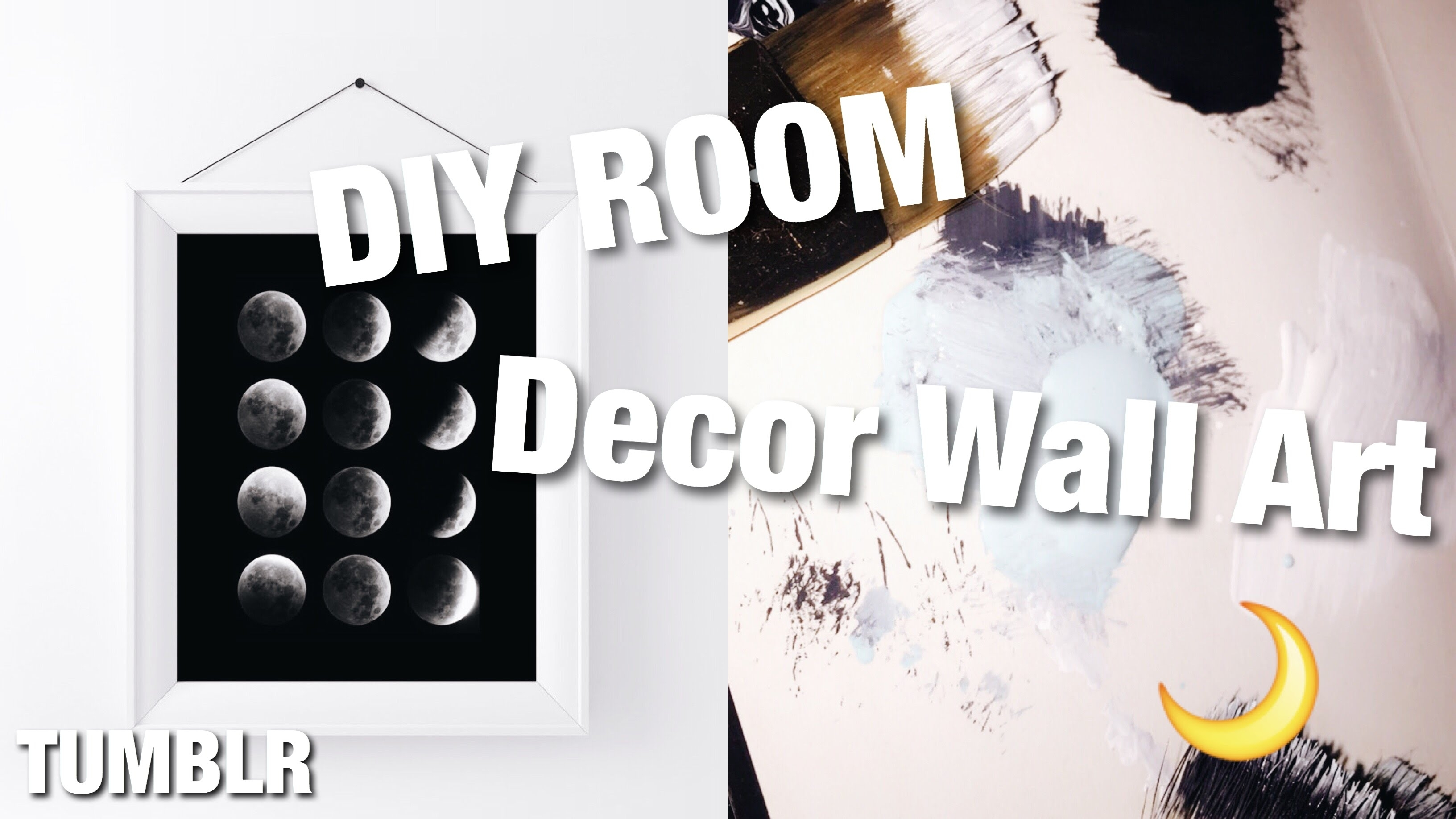 Diy Tumblr Wall Art 2016 / Fun And Easy - Youtube within 2018 Tumblr Wall Art