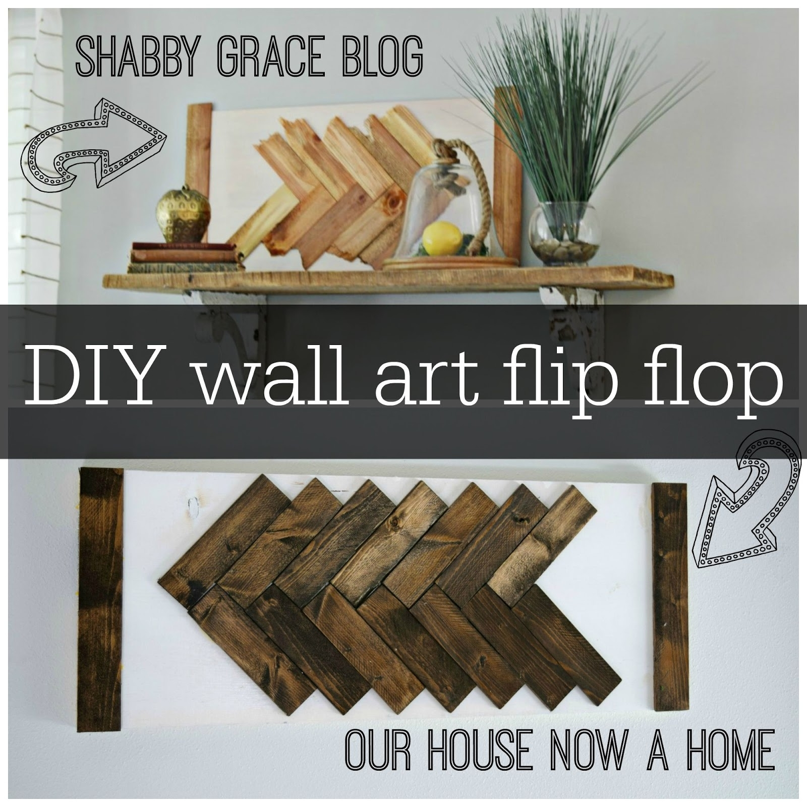 Diy Wall Art Flip Flop • Our House Now A Home In Most Up To Date Flip Flop Wall Art (View 4 of 15)