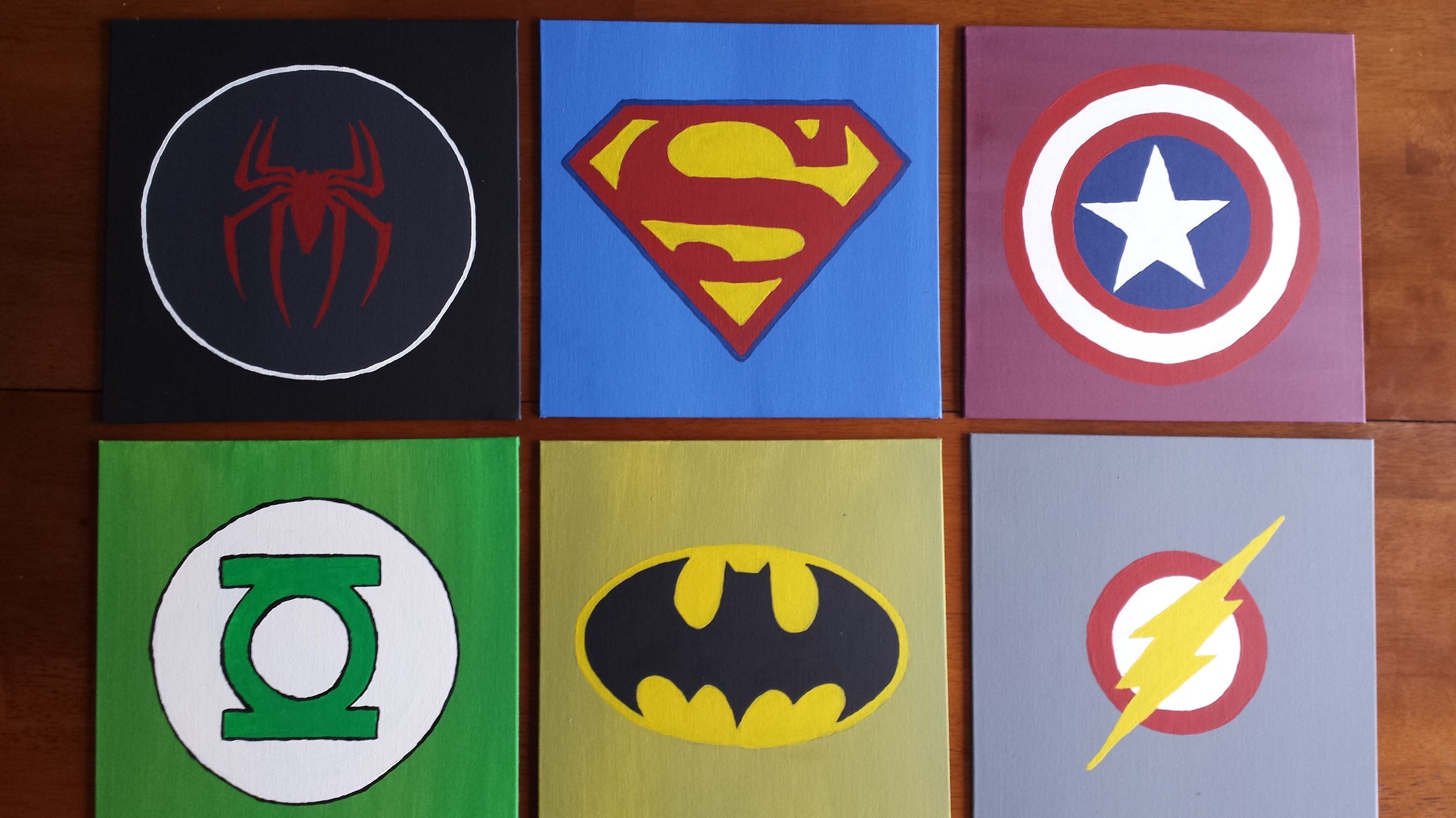 Diy Wall Art For Boys Superhero Logos | Pinterest Inspiration With Current Superhero Wall Art (View 6 of 20)