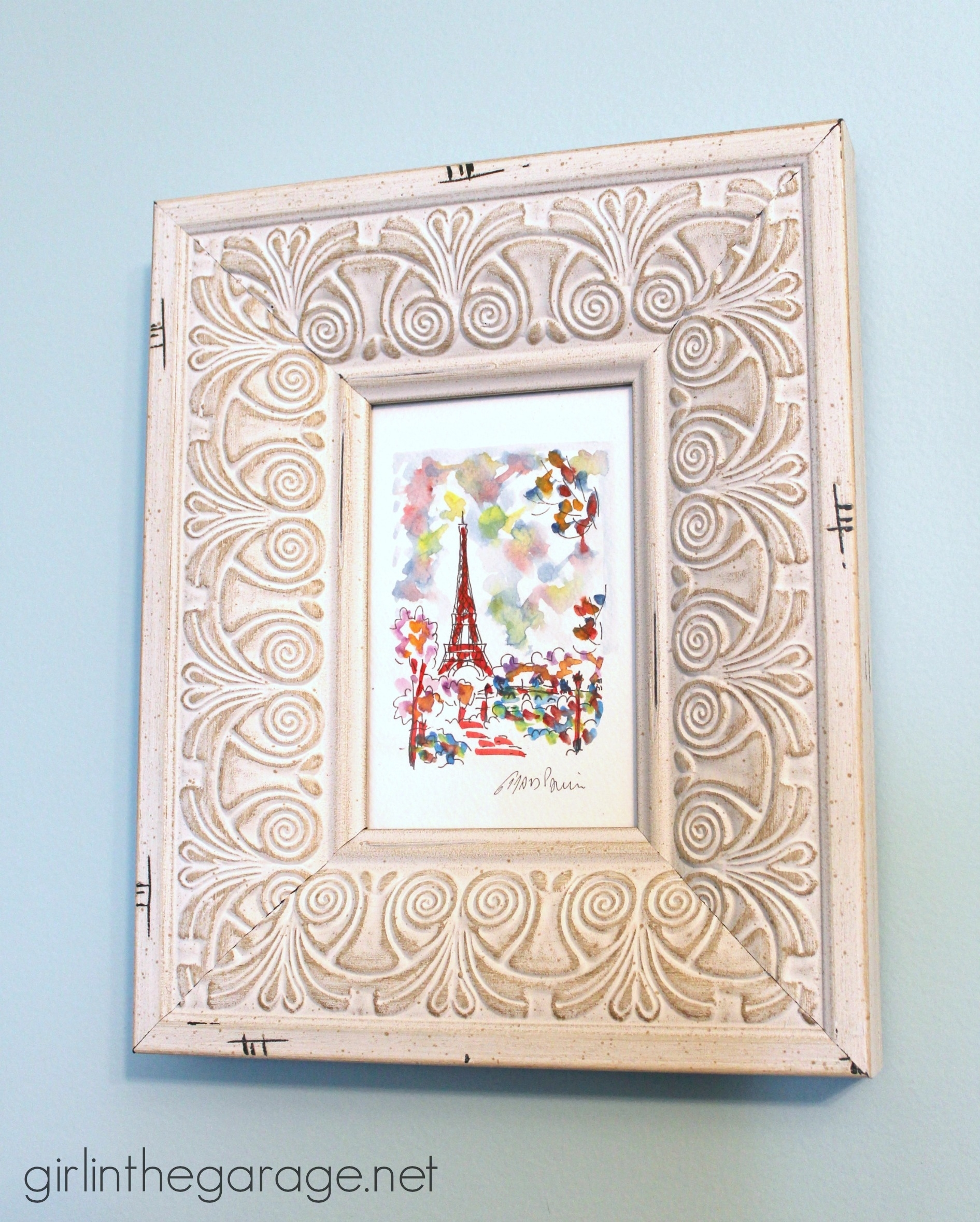 Diy Wall Art: Framed Paris Prints And Anthropologie-Inspired Bonjour for 2018 Anthropologie Wall Art