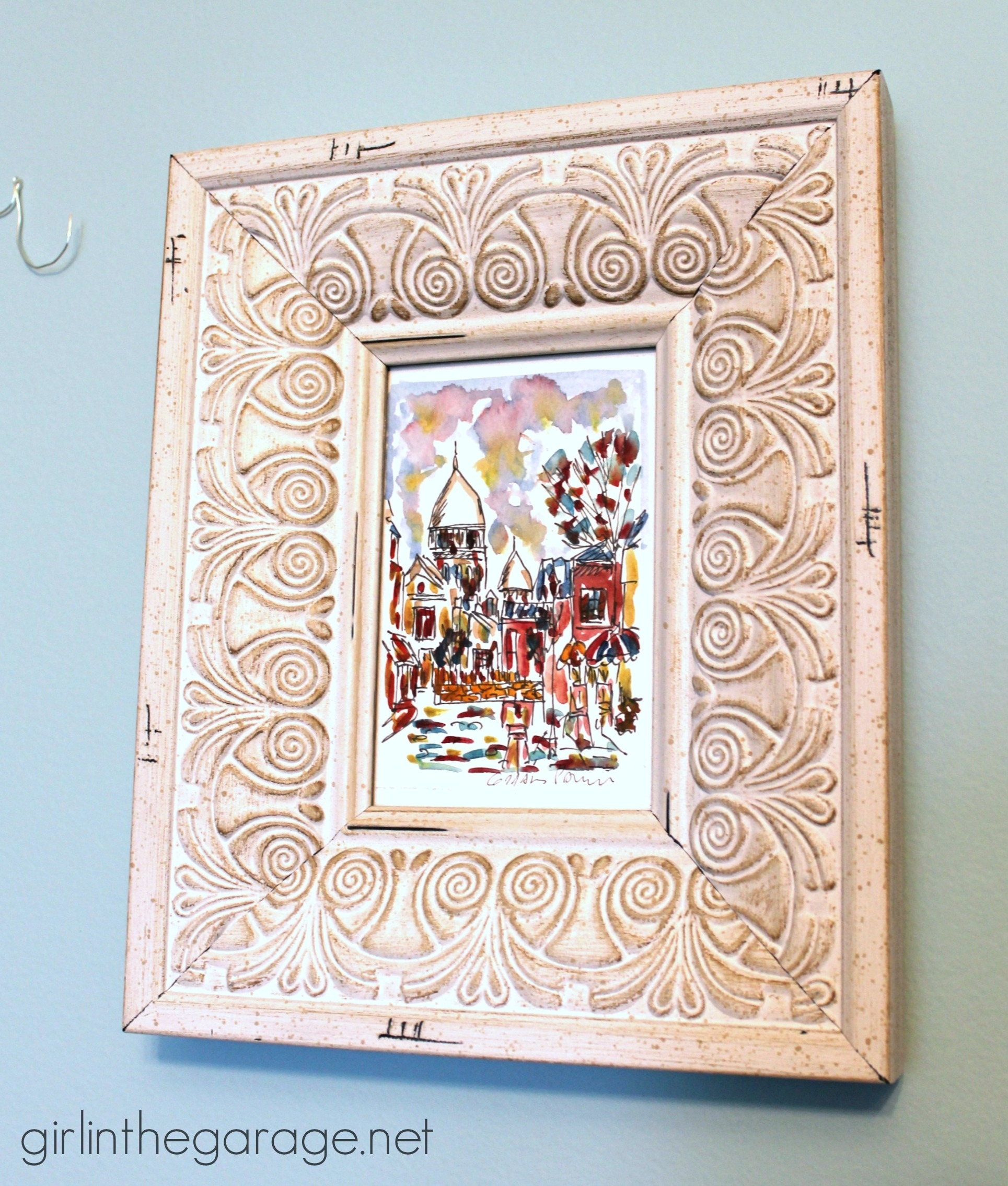 Diy Wall Art: Framed Paris Prints And Anthropologie-Inspired Bonjour pertaining to Newest Anthropologie Wall Art