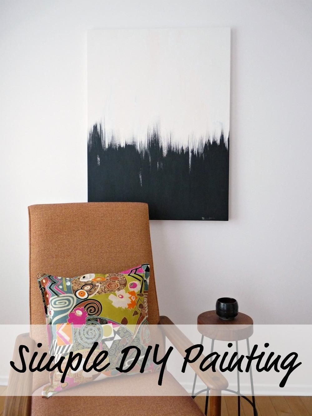 Diy Wall Art: Simple But Striking Diy Black And White Wall Art Regarding Current Diy Wall Art (View 13 of 15)