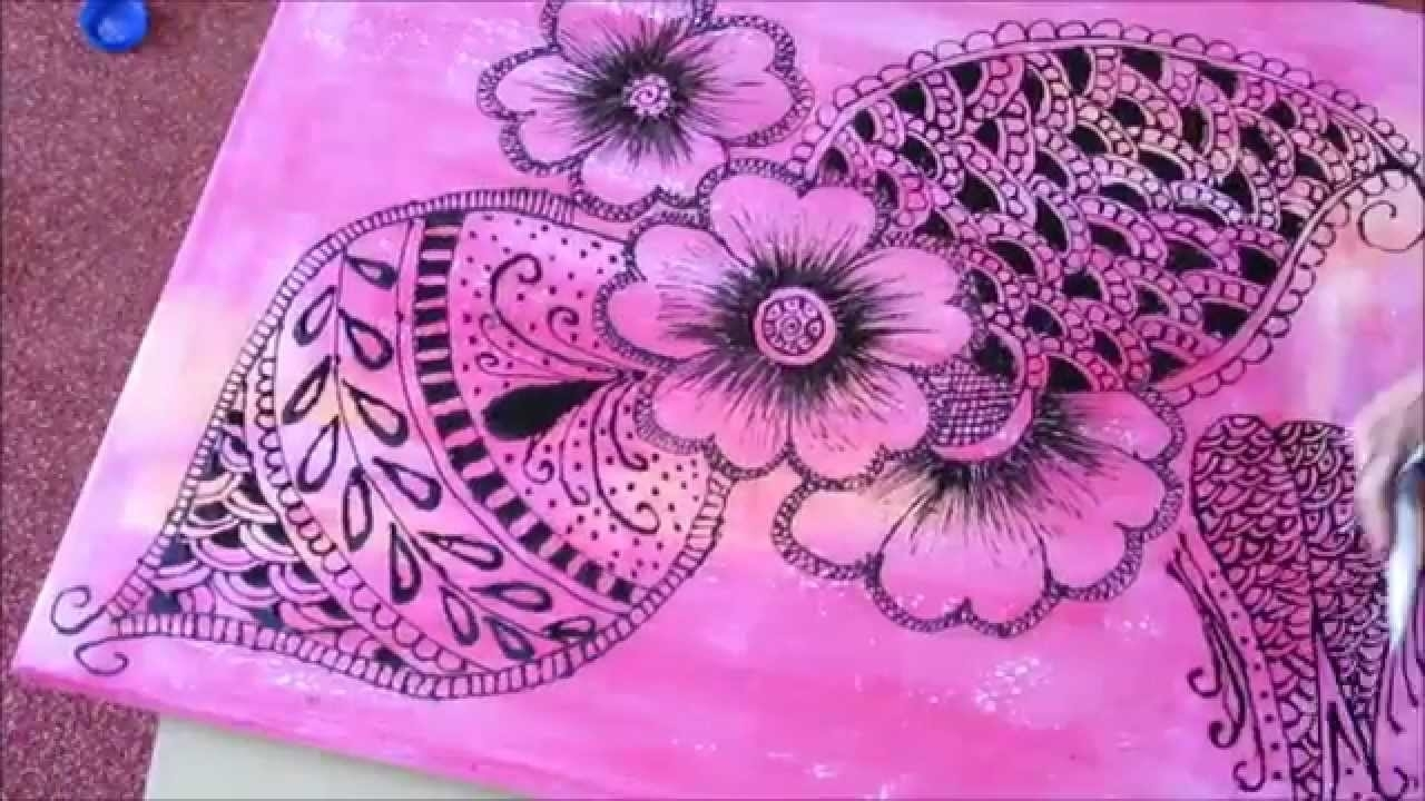 Diy Wallart .. Henna Design . (View 12 of 20)