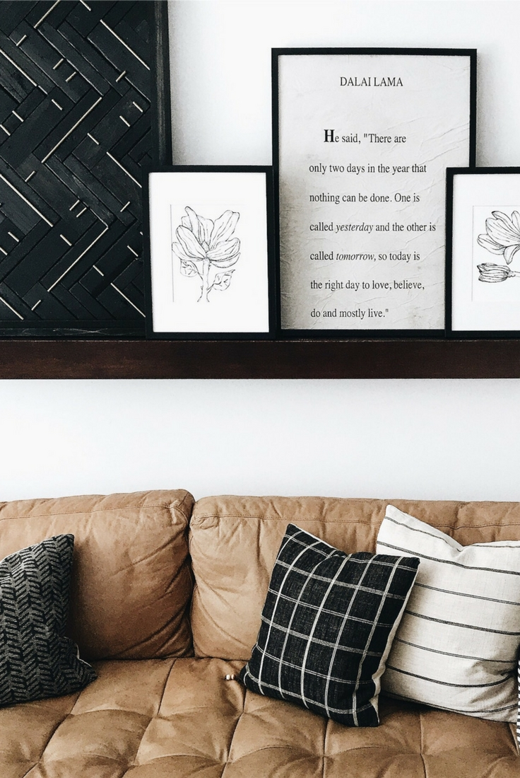 Diy West Elm Blackened Wood + Brass Wall Art Hack – Disheveled Delight Regarding Latest West Elm Wall Art (View 9 of 20)