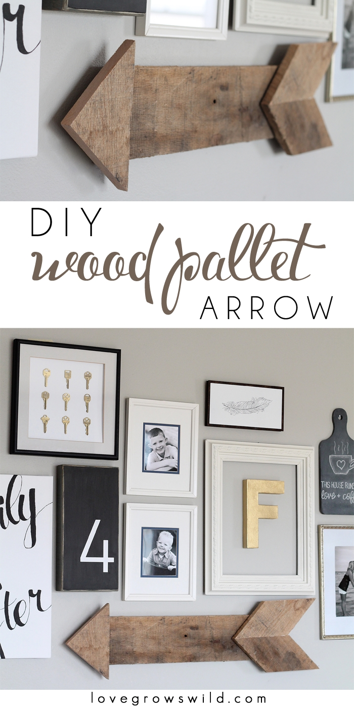 Diy Wood Pallet Arrow – Love Grows Wild Intended For 2017 Arrow Wall Art (View 9 of 20)
