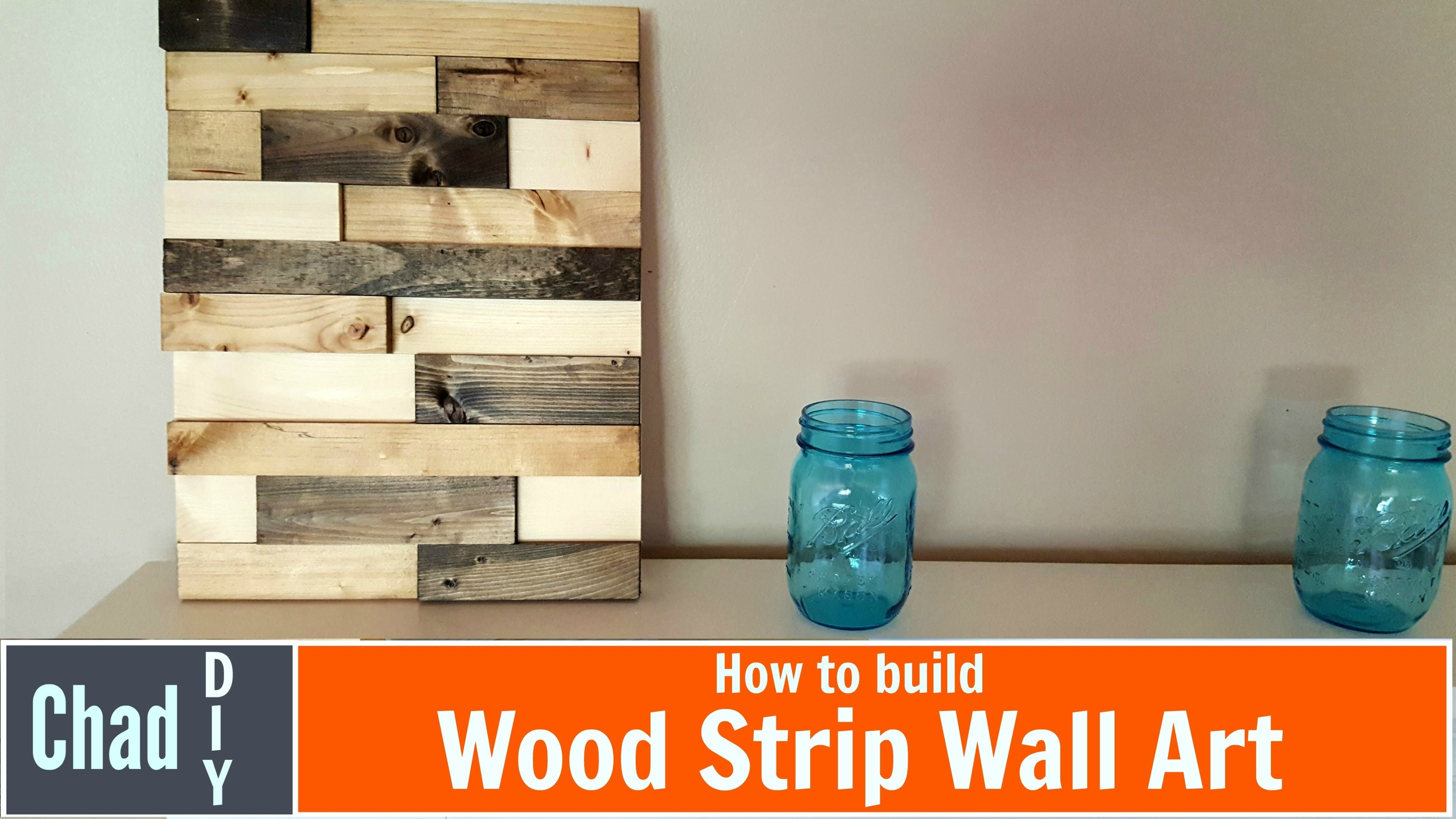 Diy Wood Strip Wall Art – Youtube Throughout Most Recently Released Diy Wood Wall Art (View 8 of 20)