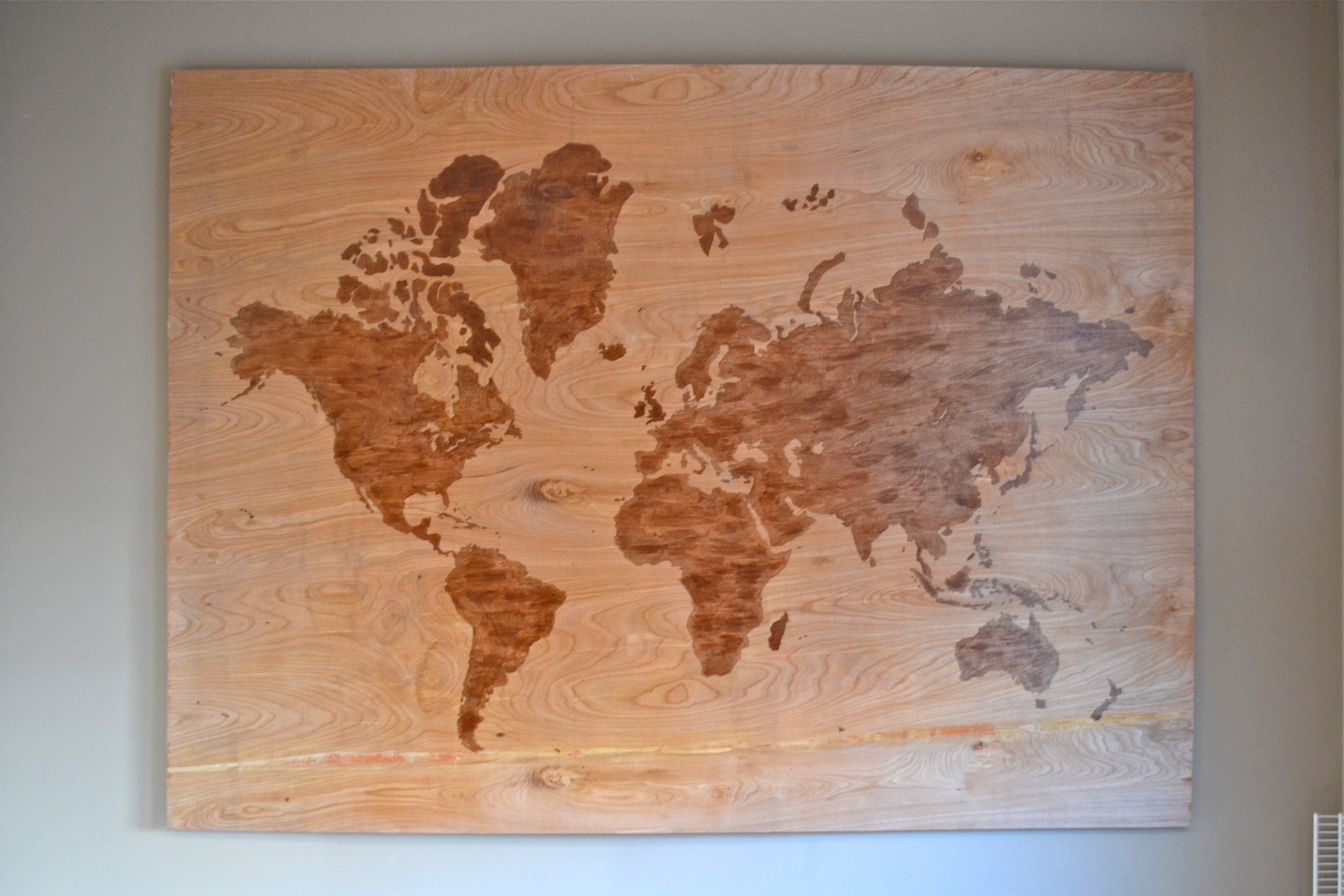Diy Wooden World Map Art – A Dash Of Megnut Intended For Most Up To Date Diy World Map Wall Art (View 13 of 20)