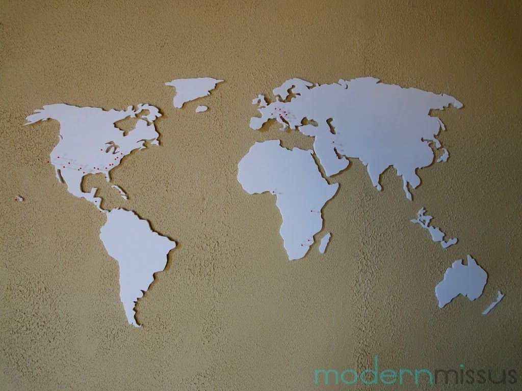 Diy World Map Wall Art – Modern Missus | Arts & Crafts | Pinterest With Current Diy World Map Wall Art (Gallery 18 of 20)