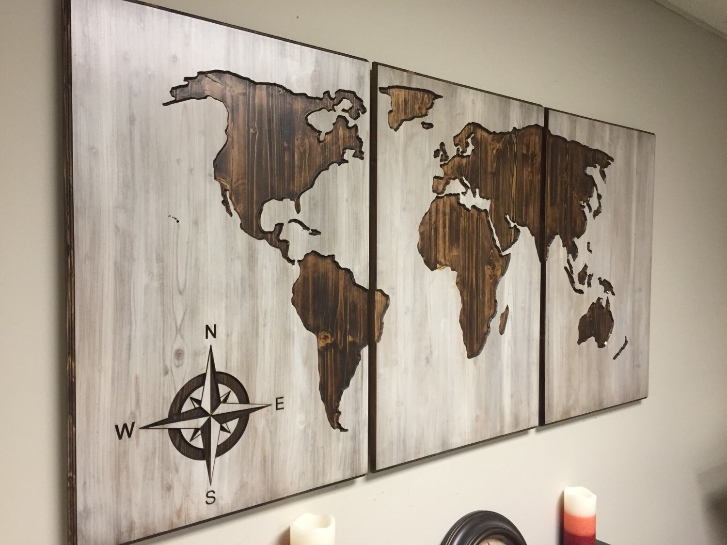 Diy World Map Wall Decor – Arabcooking With Newest Diy World Map Wall Art (Gallery 14 of 20)