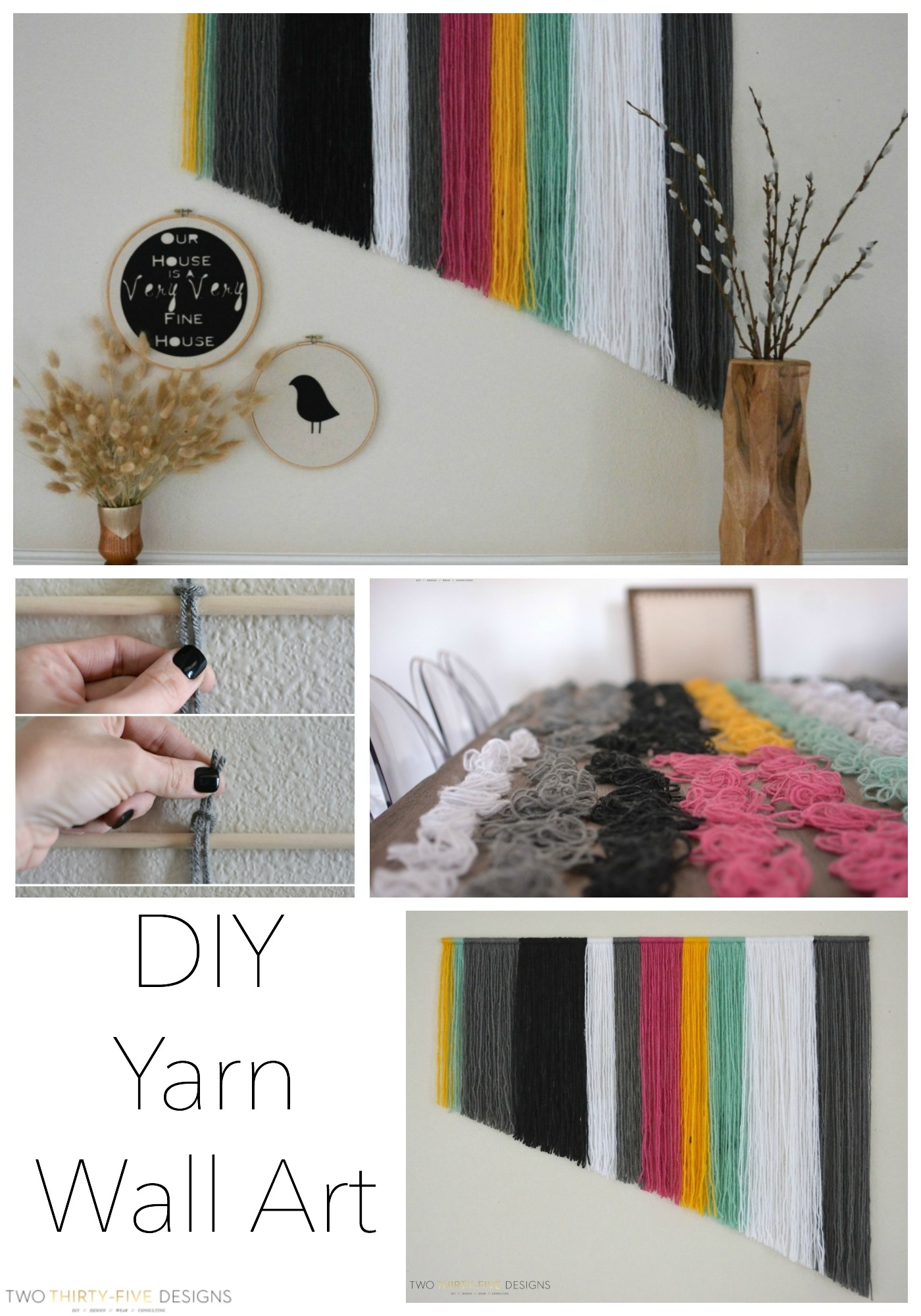 Diy Yarn Wall Art – Two Thirty Five Designs With Most Recent Yarn Wall Art (View 7 of 20)