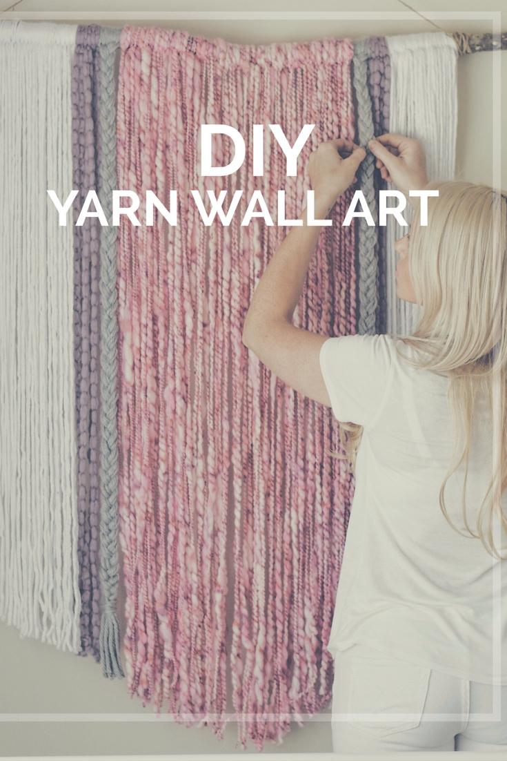 Diy Yarn Wall Art | Wall Hanging | Macrame Inspired | Boho Design Throughout 2018 Crochet Wall Art (View 12 of 20)