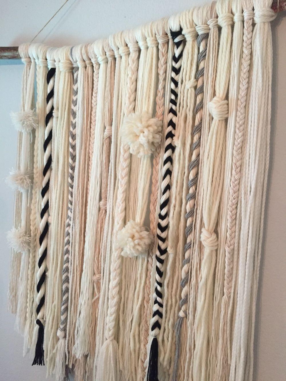 Diy Yarn Wall Hanging … | My Creations | Pinterest | Yarn Wall throughout Most Current Yarn Wall Art