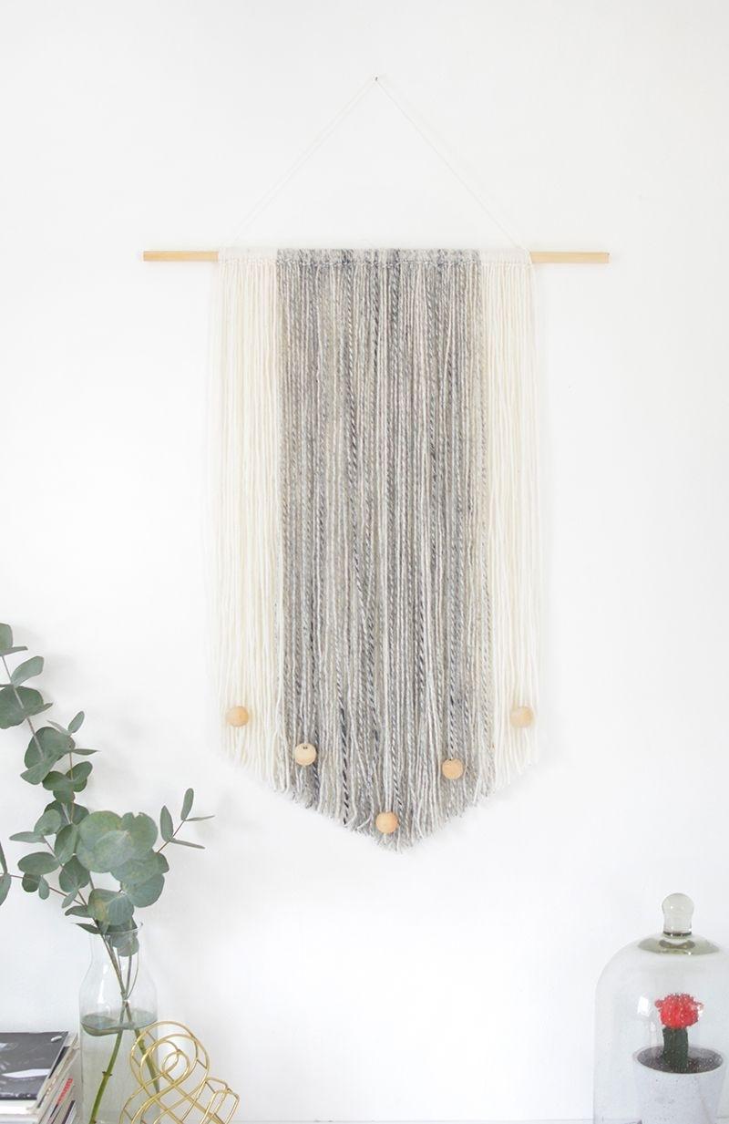 Diy Yarn Wall Hanging | Organize/decorate | Pinterest | Yarn Wall Within Most Recent Yarn Wall Art (View 9 of 20)