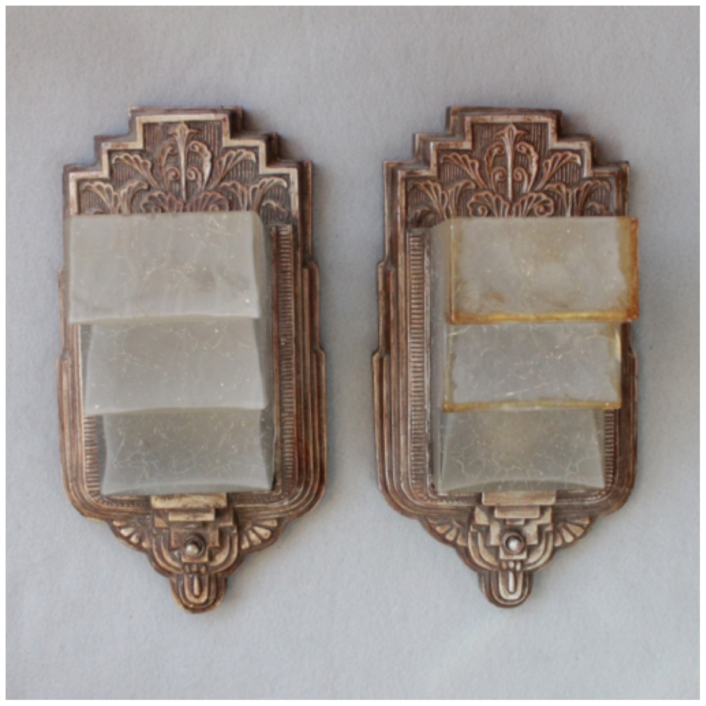 Diy155 Pair Art Deco Wall Sconces | Bogart, Bremmer & Bradley Antiques Inside Most Recently Released Art Deco Wall Sconces (View 11 of 20)