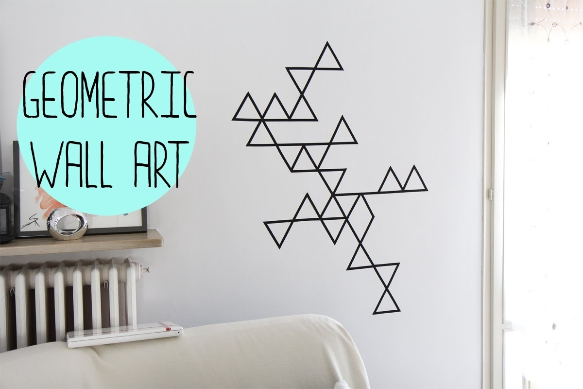 Diy:geometric Wall Art With Washi Tape – Decorazione Da Muro Con Within Most Recently Released Washi Tape Wall Art (View 6 of 20)