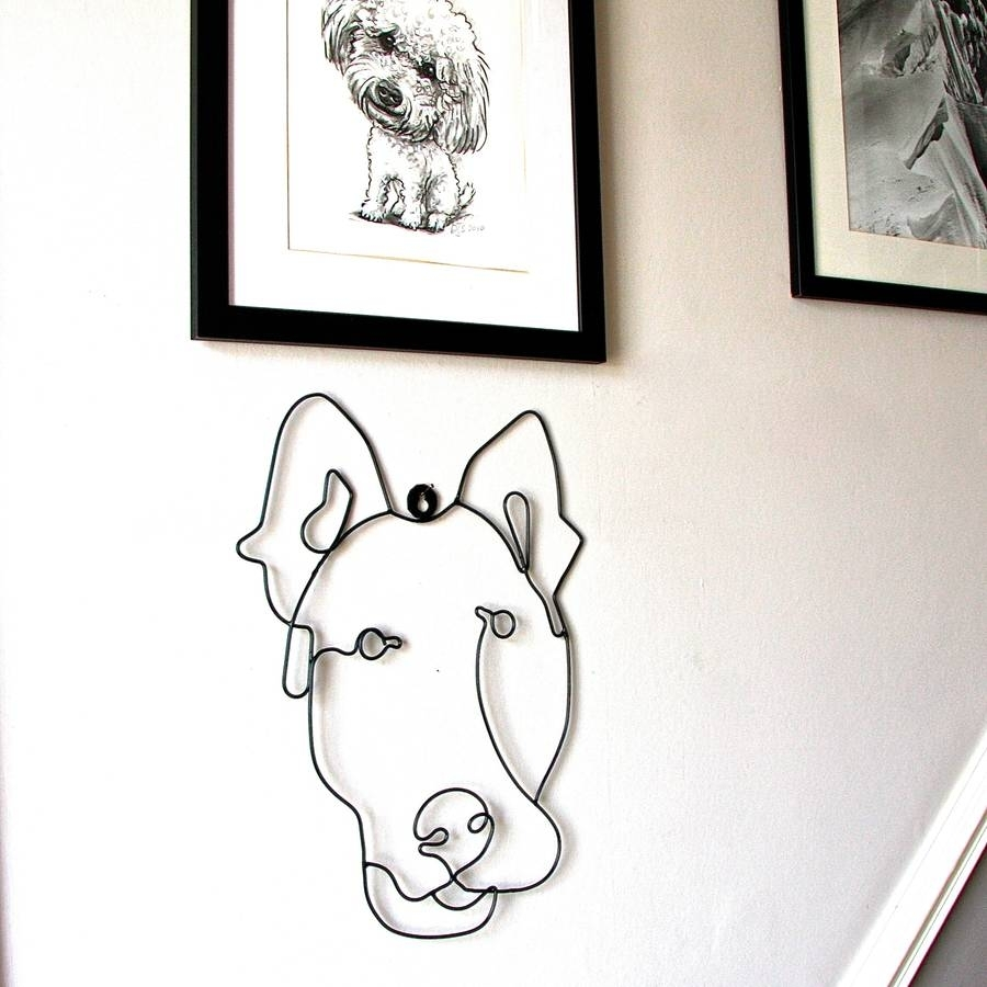 Dog Wire Wall Artlondon Garden Trading | Notonthehighstreet Pertaining To Newest Wire Wall Art (View 5 of 20)