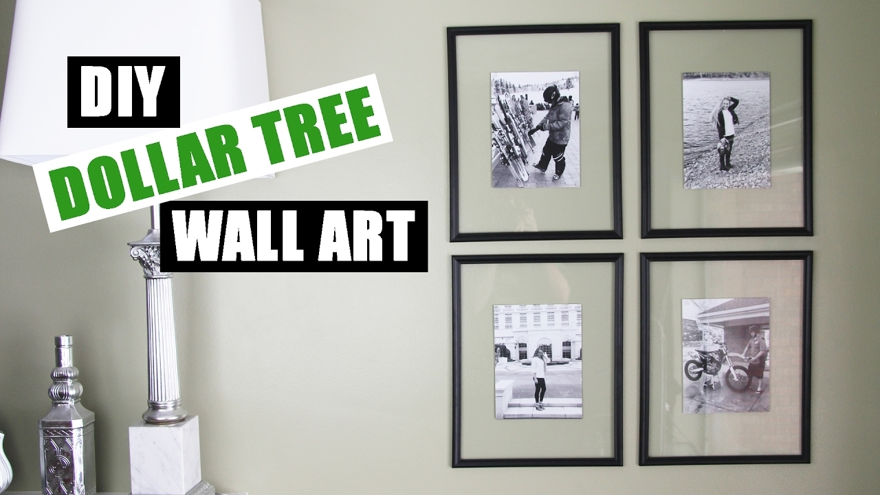 Dollar Tree Diy Floating Frame Art | Dollar Store Diy Gallery Wall regarding Most Recently Released Inexpensive Wall Art