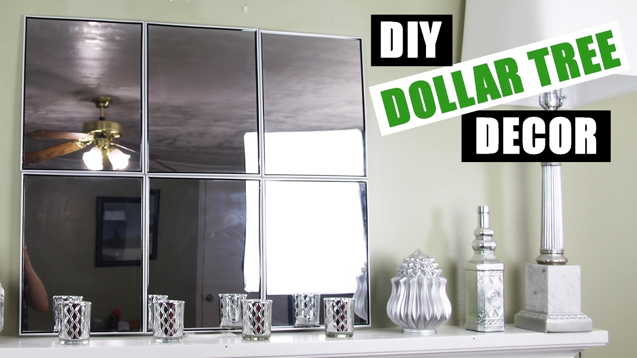 Dollar Tree Diy Mirror Wall Art | Dollar Store Diy Mirror Room Decor With Regard To Recent Wall Art Cheap (Gallery 5 of 20)
