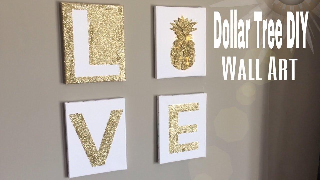 Dollar Tree Wall Art Diy | Diy Bedroom Wall Decor| Diy Office Wall with Most Recently Released Art Wall Decor