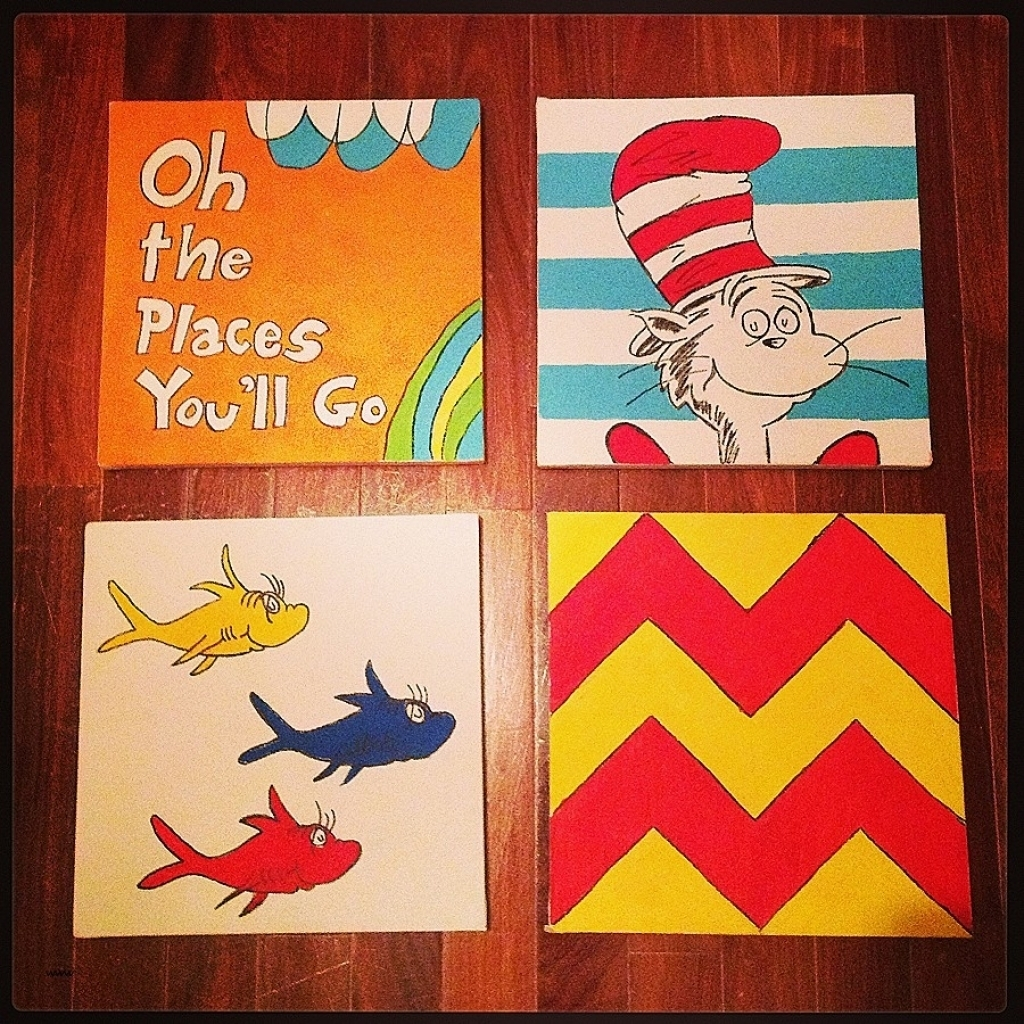 Dr Seuss Canvas Wall Art New Why Fit In When You Were Born To Stand Regarding Most Up To Date Dr Seuss Wall Art (View 5 of 20)