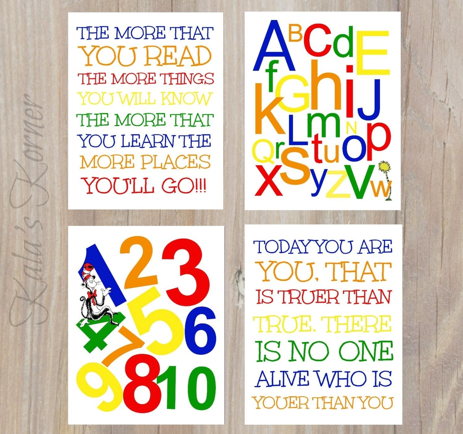 Dr Seuss Nursery Art – Dr Seuss Wall Art – Dr Seuss Nursery Decor For Most Recent Dr Seuss Wall Art (View 11 of 20)