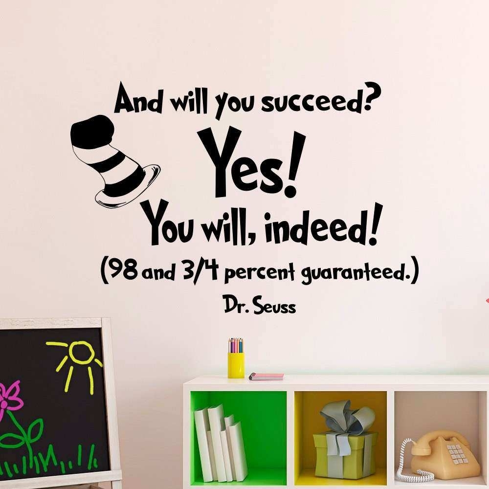 Dr Seuss Wall Art Quotes Elegant Stylish Idea Dr Seuss Wall Art In 2017 Dr Seuss Wall Art (View 12 of 20)