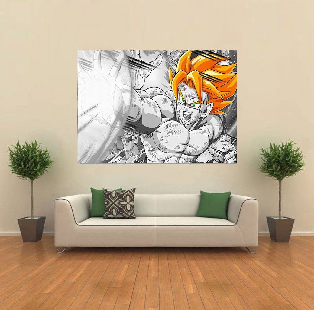 Dragon Ball Z Dbz Gogeta Anime Giant Wall Poster Art Print C007 | Ebay Regarding Most Current Dragon Wall Art (Gallery 15 of 20)