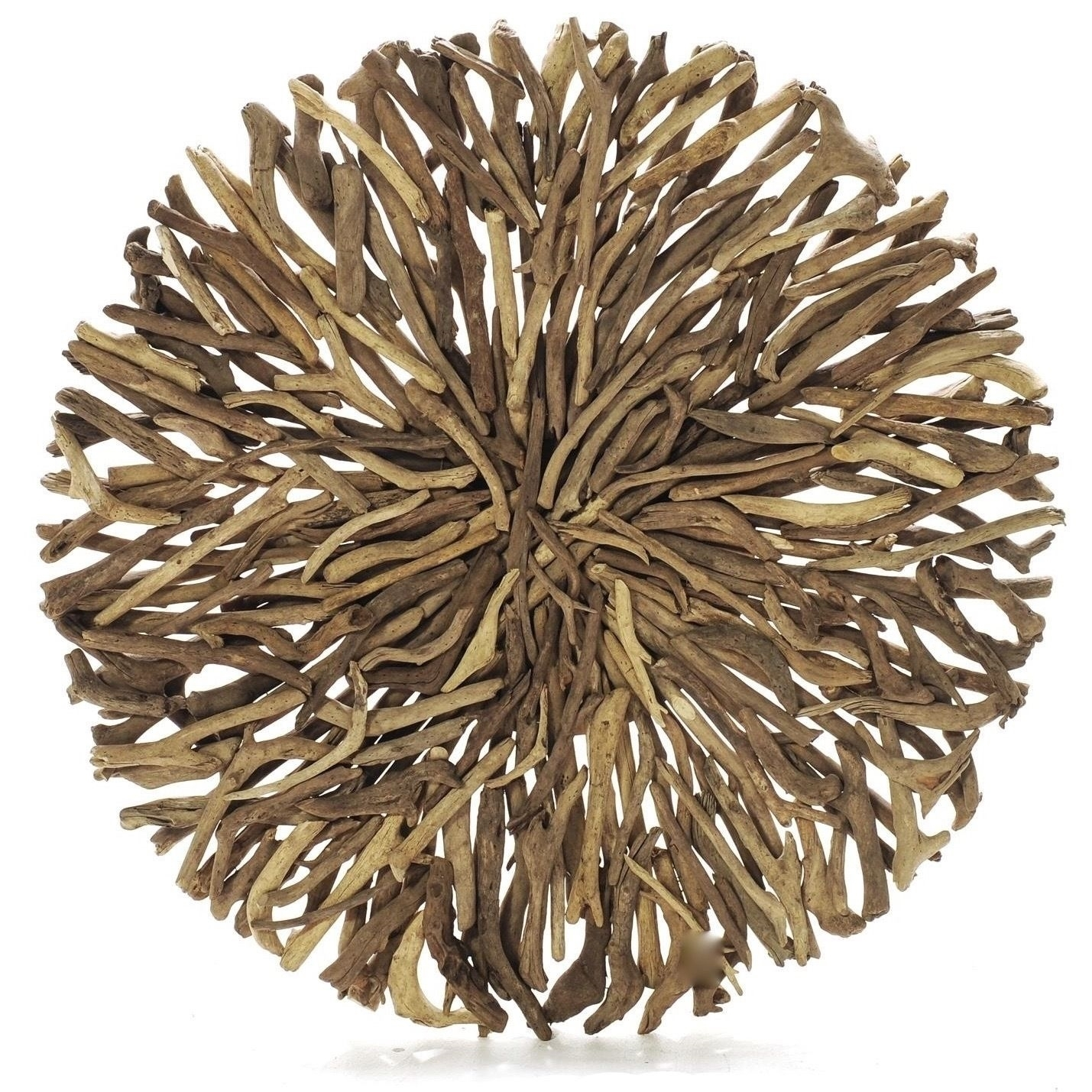 Driftwood Round Wall Hanging Art Indoor Outdoor 55Cm | Ebay With Regard To Most Recently Released Round Wall Art (View 6 of 20)