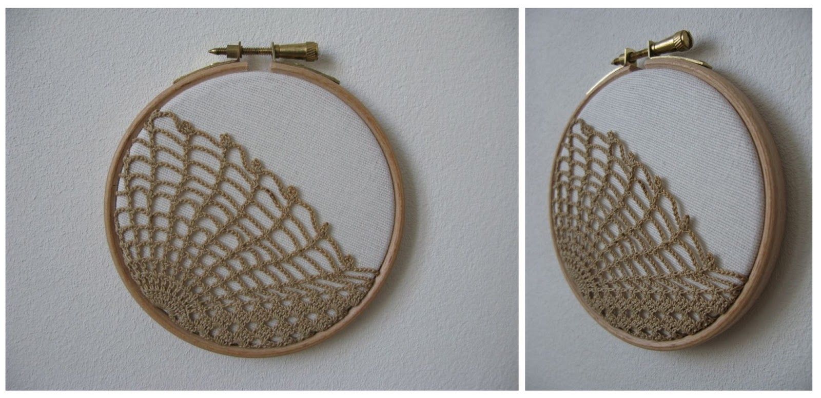 E17Craft: Crochet Wall Art & Lavender Sachets With Regard To Best And Newest Crochet Wall Art (View 14 of 20)