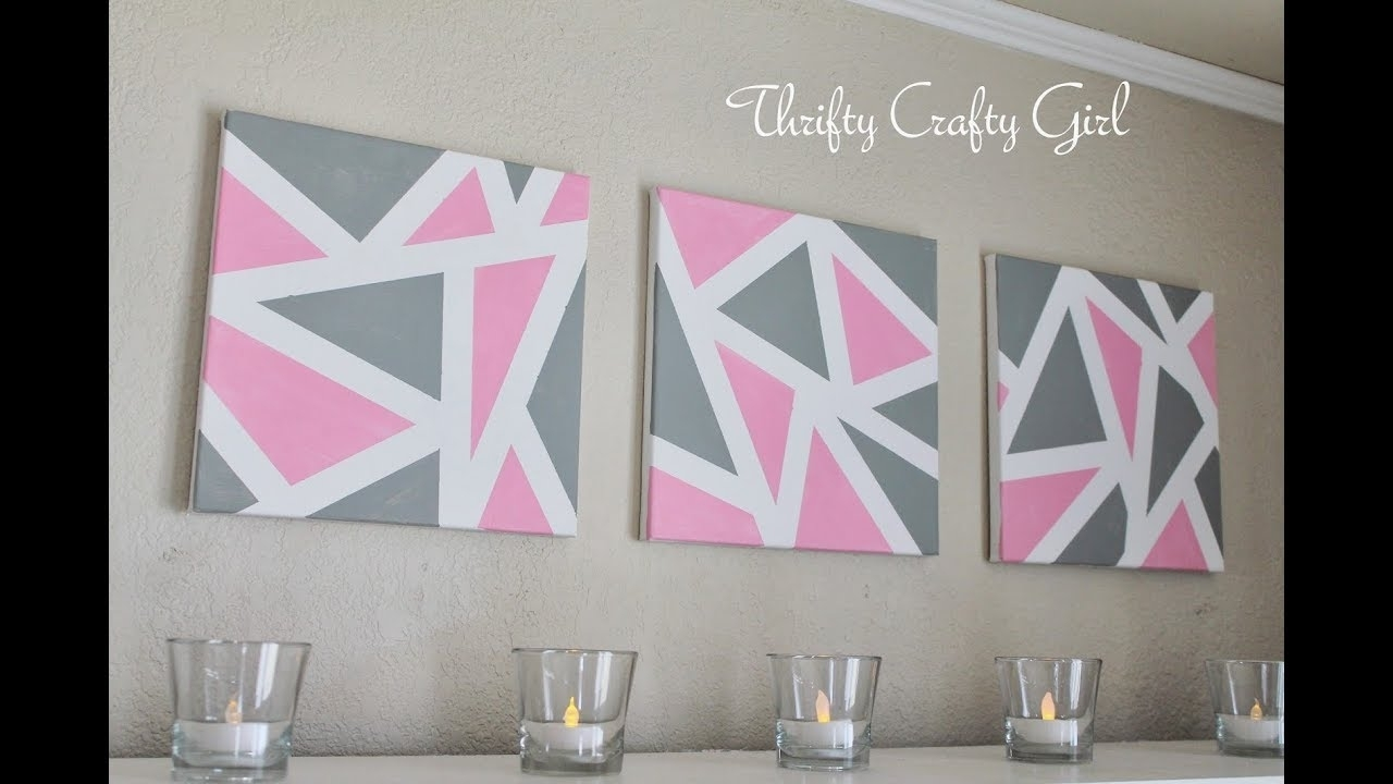 ? Diy Wall Decor | Diy Abstract Metallic Wall Art | Diy Canvas Wall In Most Recent Diy Wall Art (View 6 of 15)
