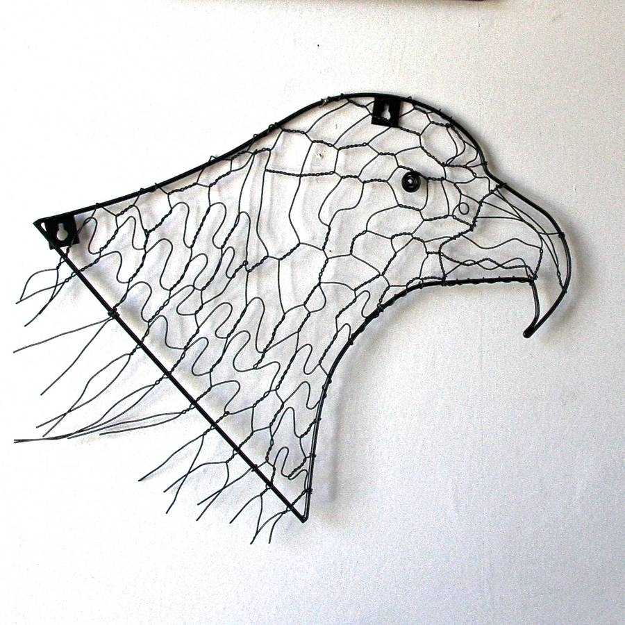 Eagle Wire Wall Artlondon Garden Trading | Notonthehighstreet Throughout 2017 Wire Wall Art (View 6 of 20)