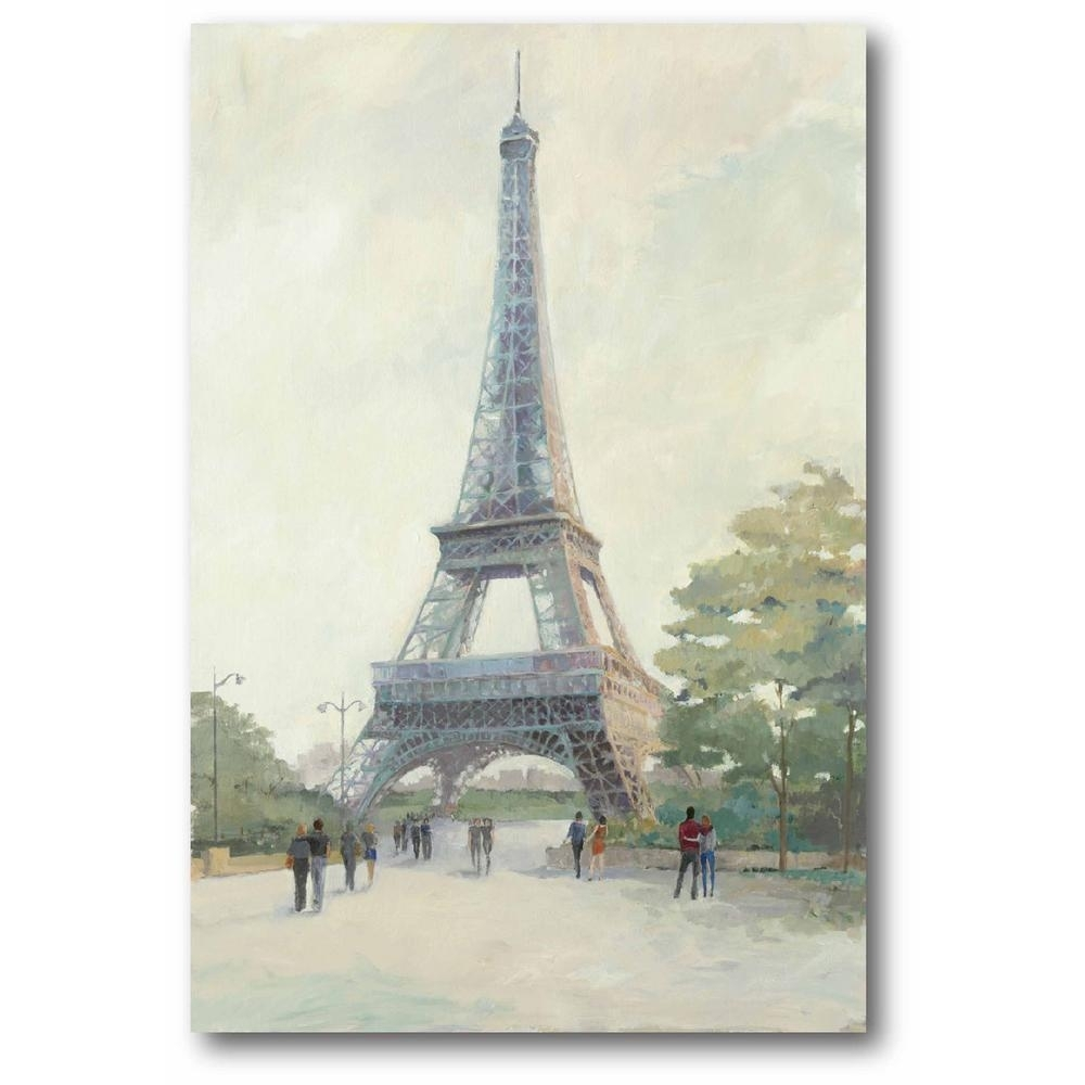 Early Evening Paris Wall Art Web Ap168b – The Home Depot Inside Best And Newest Paris Wall Art (View 10 of 15)