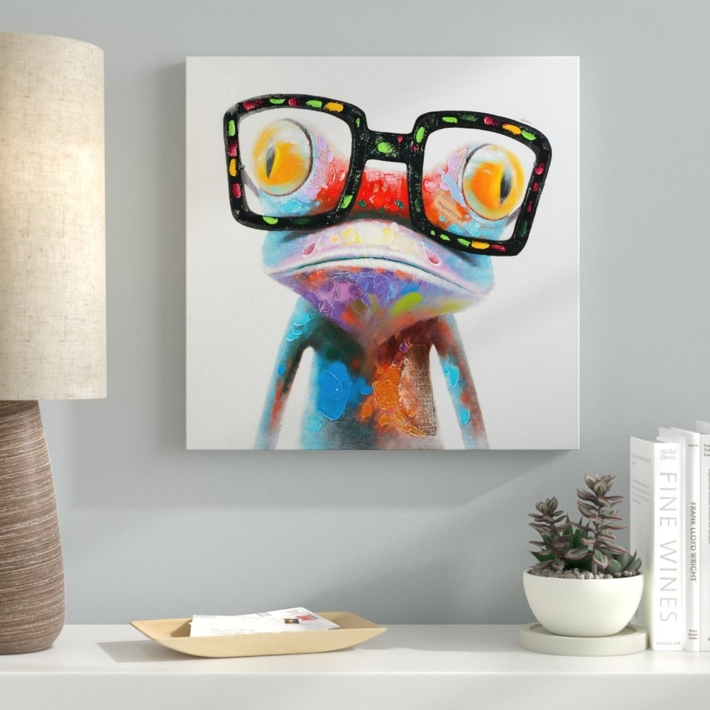 Ebern Designs 'amazing Gecko' Painting On Canvas & Reviews | Wayfair (View 10 of 20)