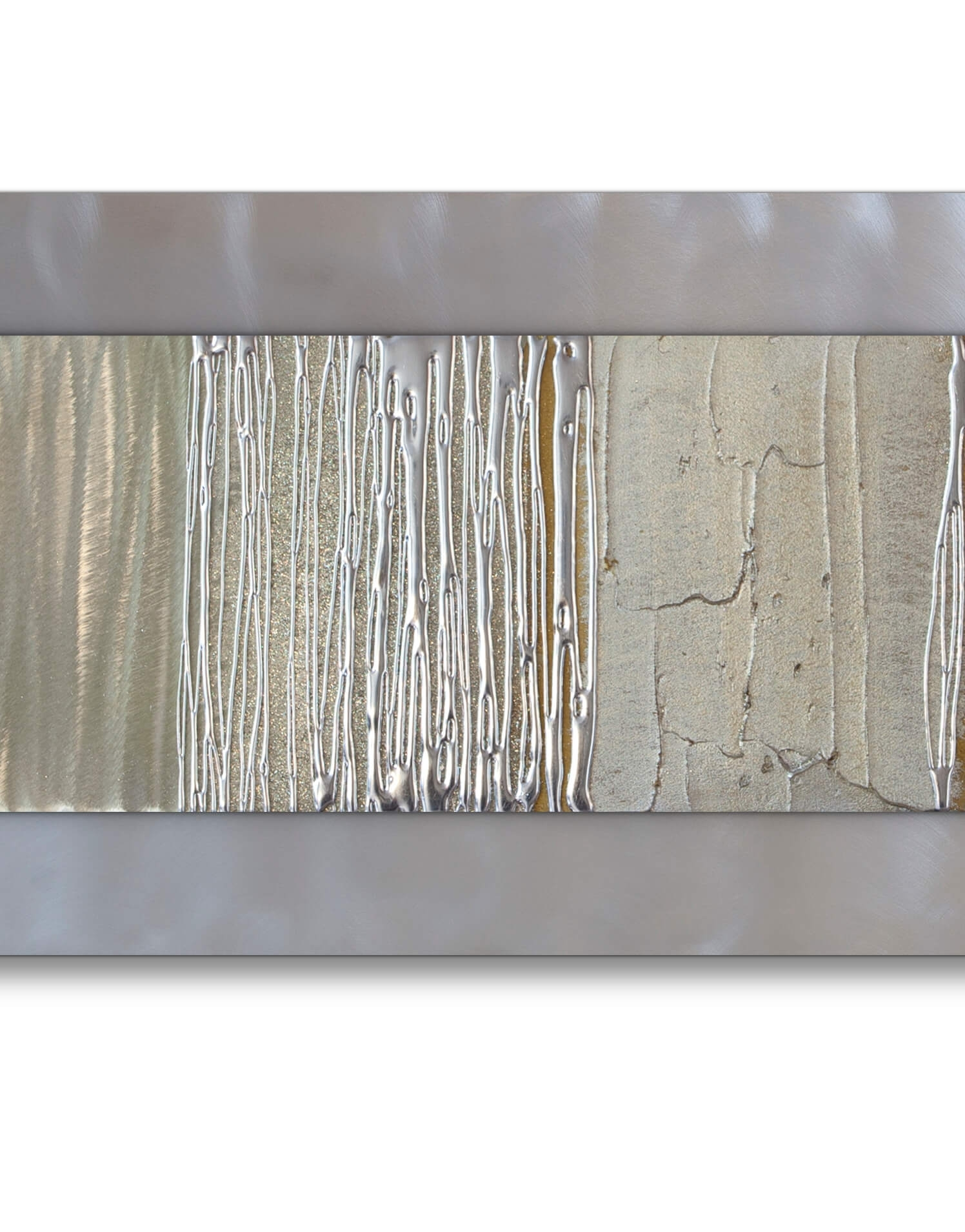Echo Champagne – Silver Wall Art, Contemporary Art Uk Inside Most Popular Silver Wall Art (View 8 of 20)