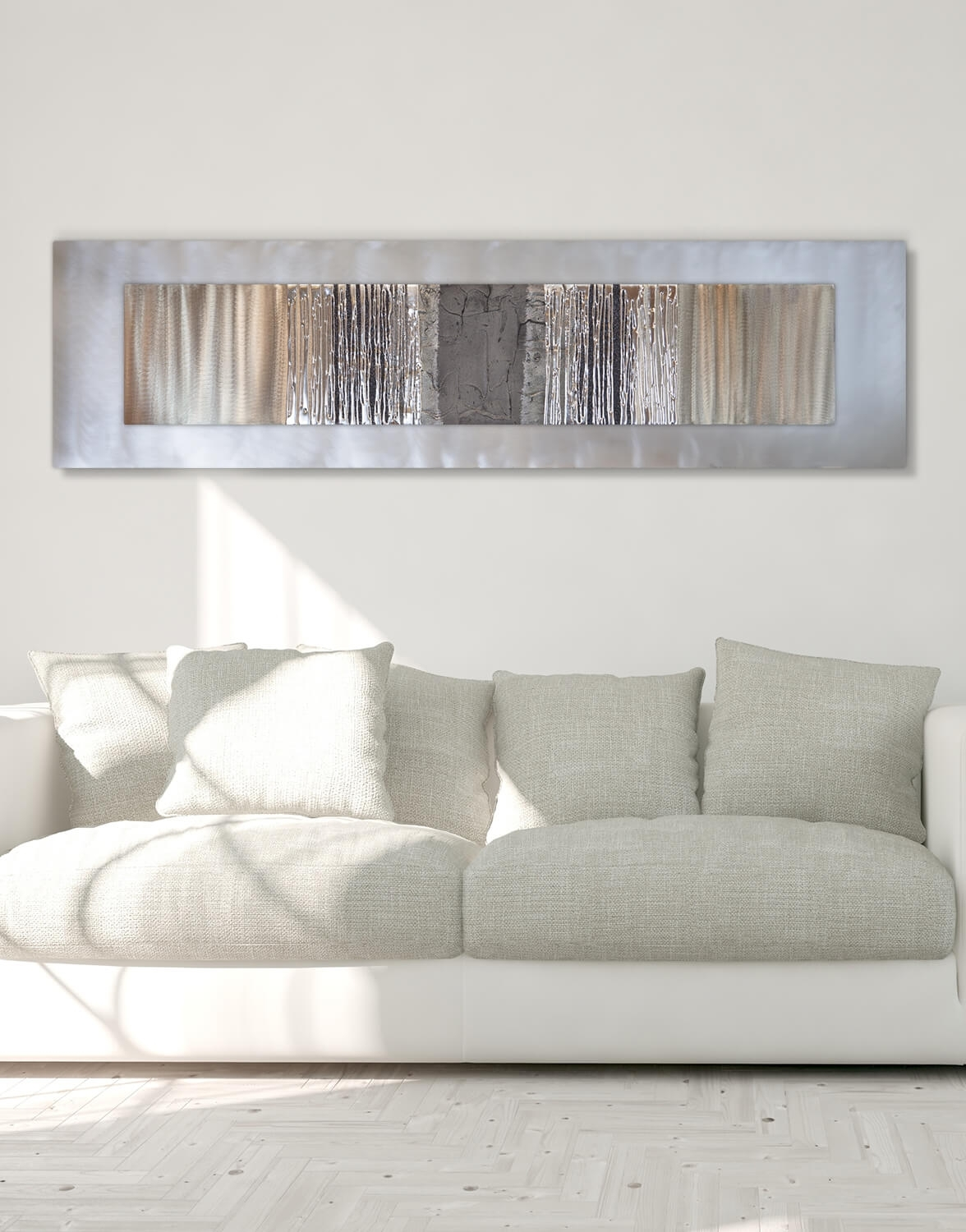 Echo Oak Grey – Silver Wall Art, Contemporary Art Uk Within Most Up To Date Grey Wall Art (View 11 of 20)