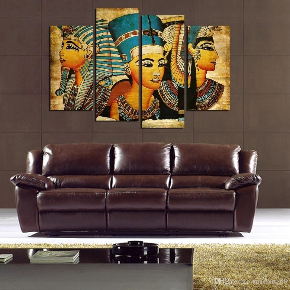 Egyptian Pharaoh No Frame Wall Art Oil Painting On Canvas Paintings Regarding Recent Cheap Wall Art (View 11 of 15)