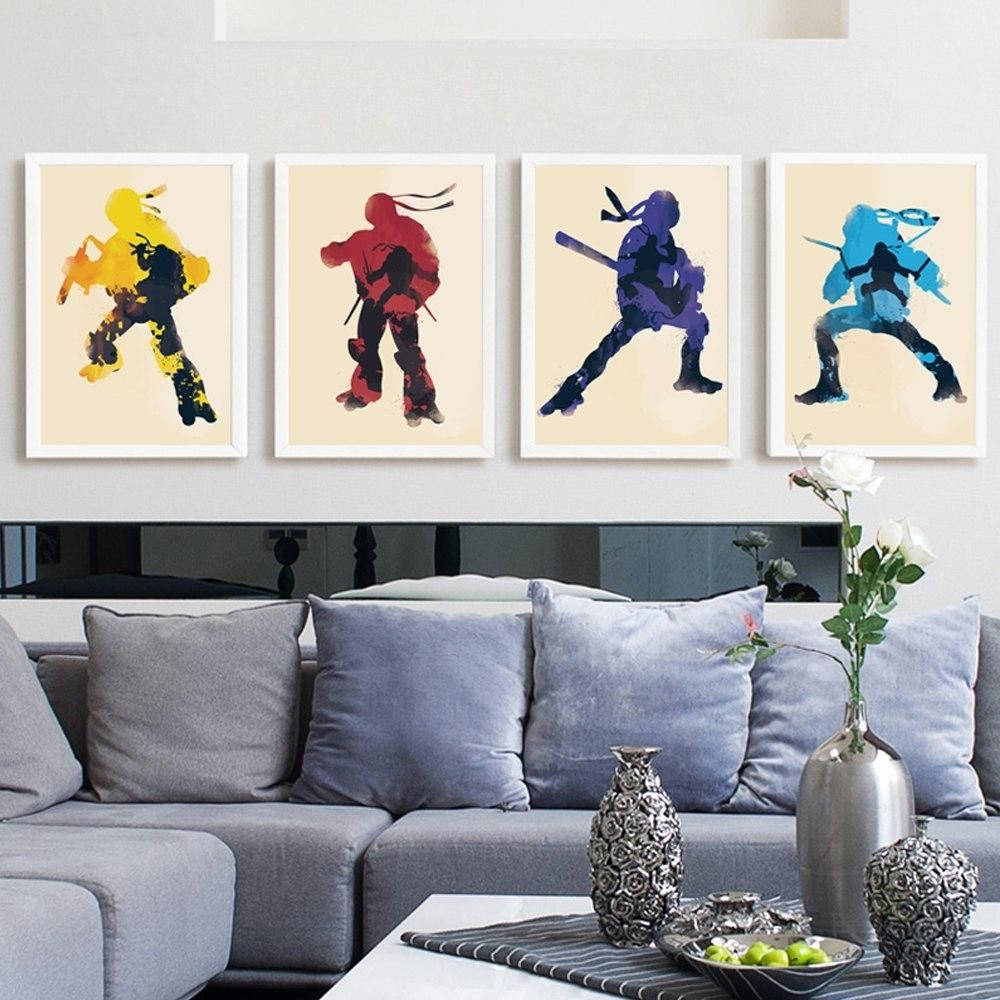 Elegant Poetry Anime Cartoon Movie Teenage Mutant Ninja Turtle A4 Pertaining To 2017 Ninja Turtle Wall Art (View 6 of 20)