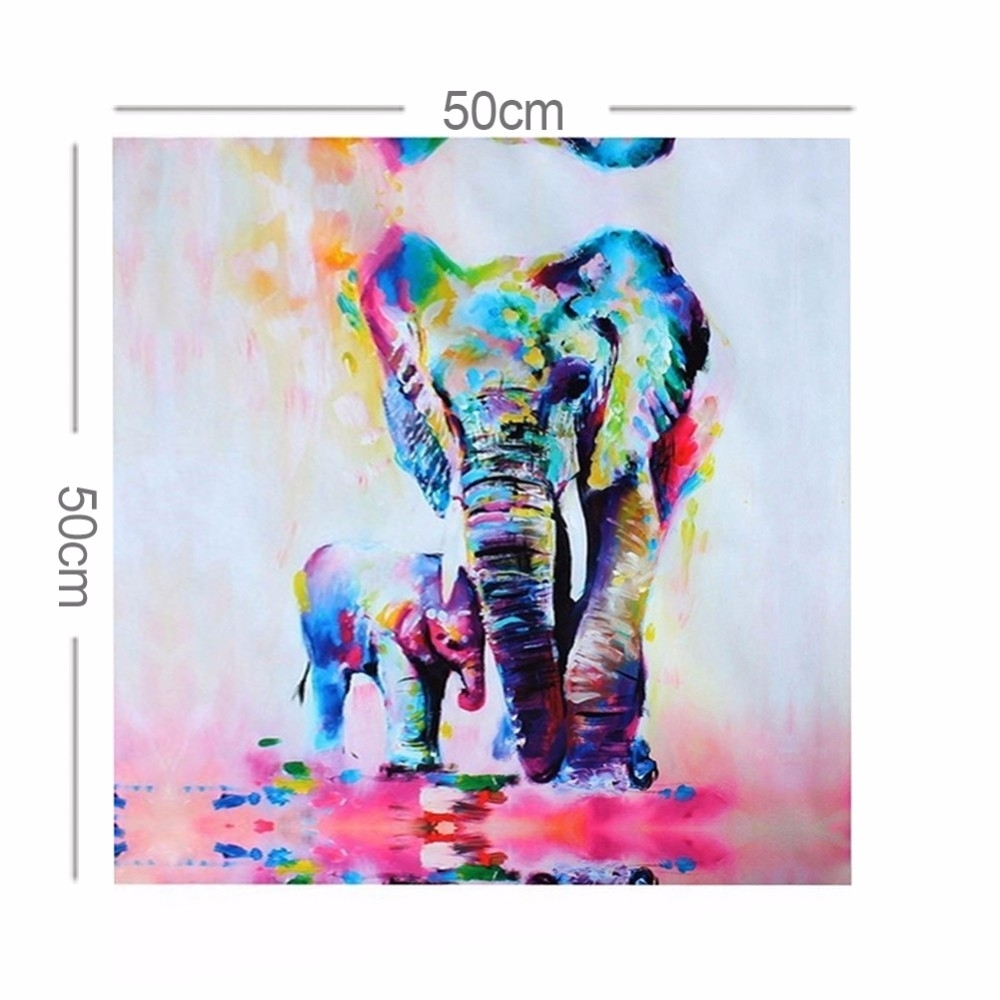 Elephant Canvas Painting Hd Printed Canvas – First Choice Print Inside Most Current Elephant Canvas Wall Art (View 11 of 20)