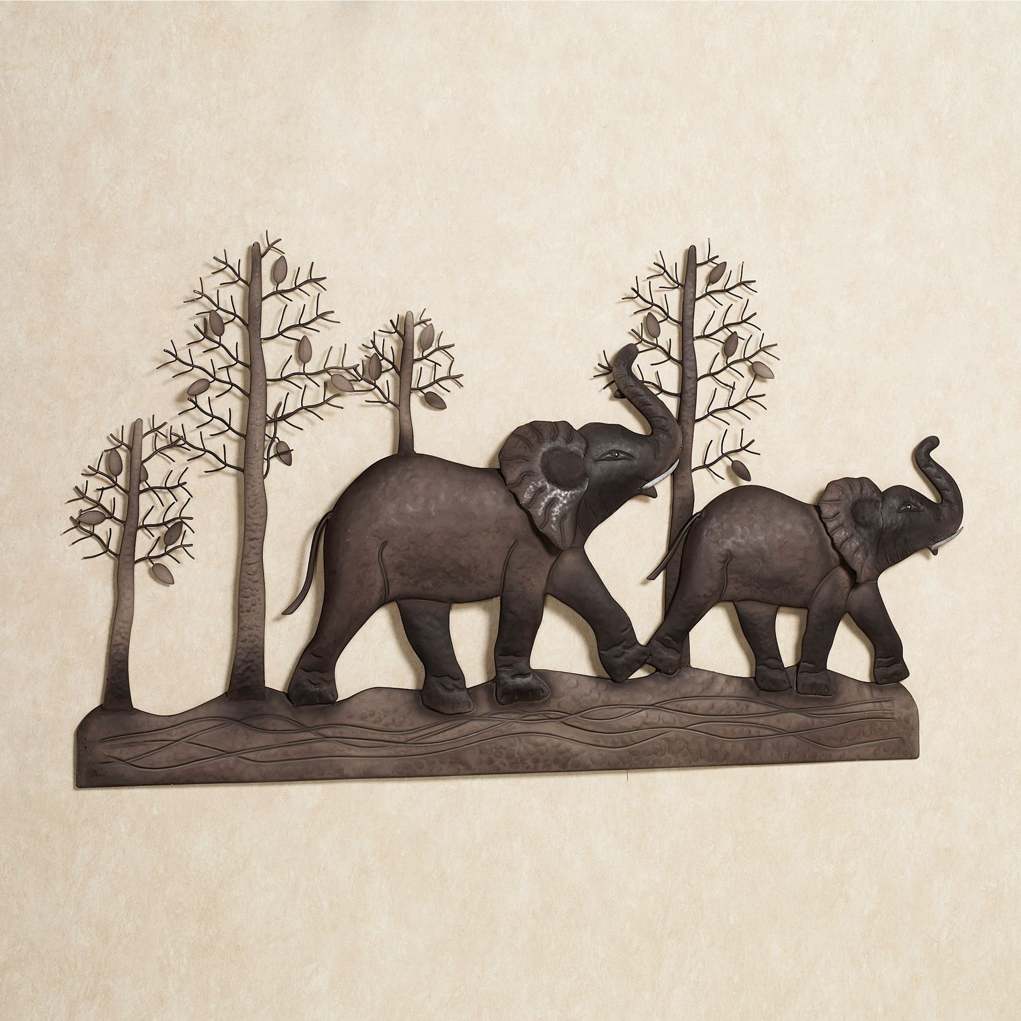 Elephant Metal Wall Art For Most Current Elephant Wall Art (View 4 of 15)