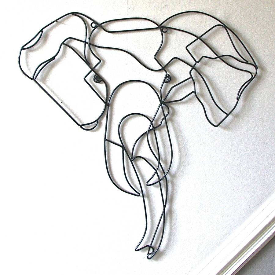 Elephant Wire Wall Artlondon Garden Trading | Notonthehighstreet Throughout Most Current Wire Wall Art (View 1 of 20)